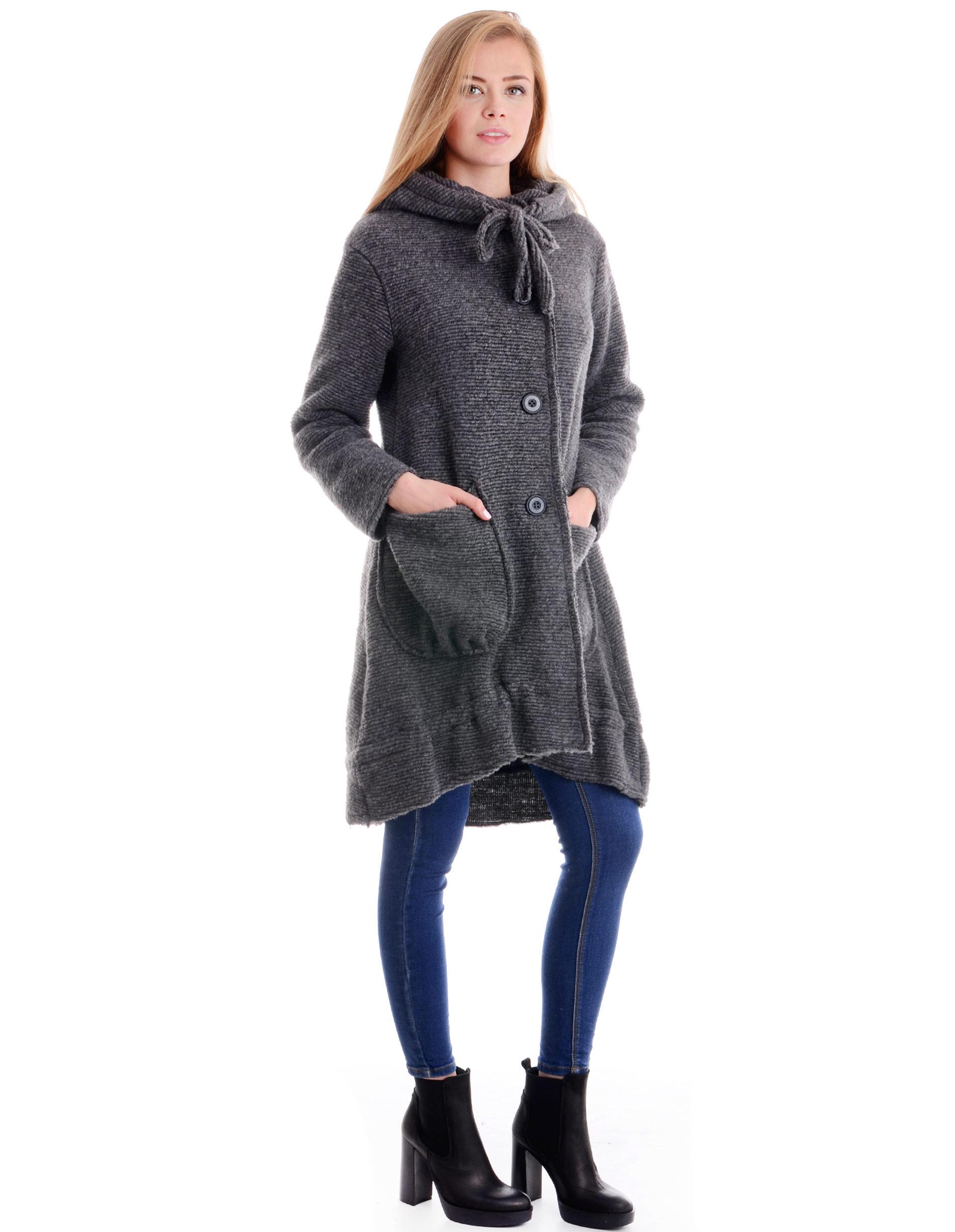 Płaszcz materiałowy - 138-00001 GRI - Unisono