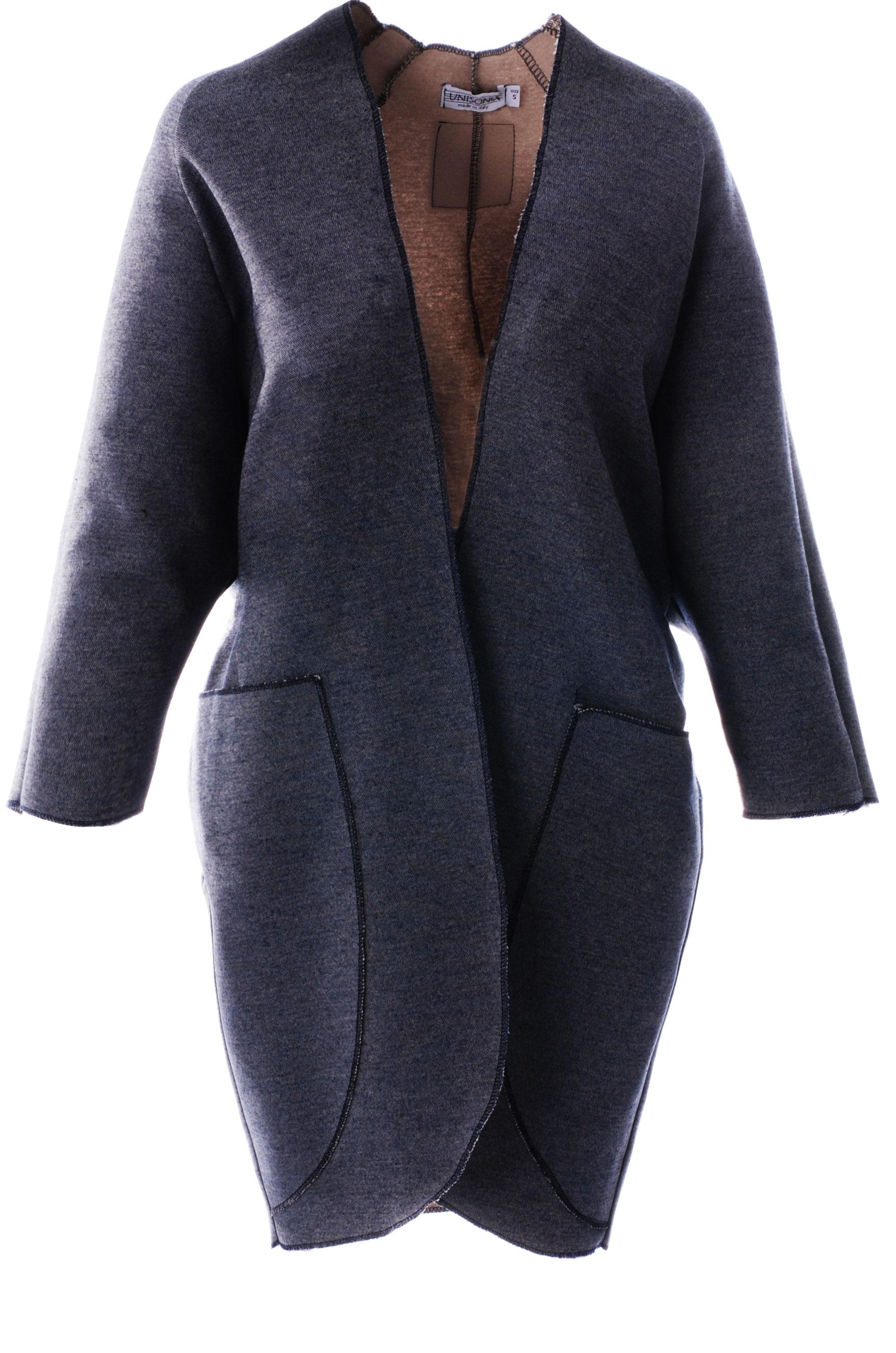 Płaszcz materiałowy - 34-3808 BL-BE - Unisono