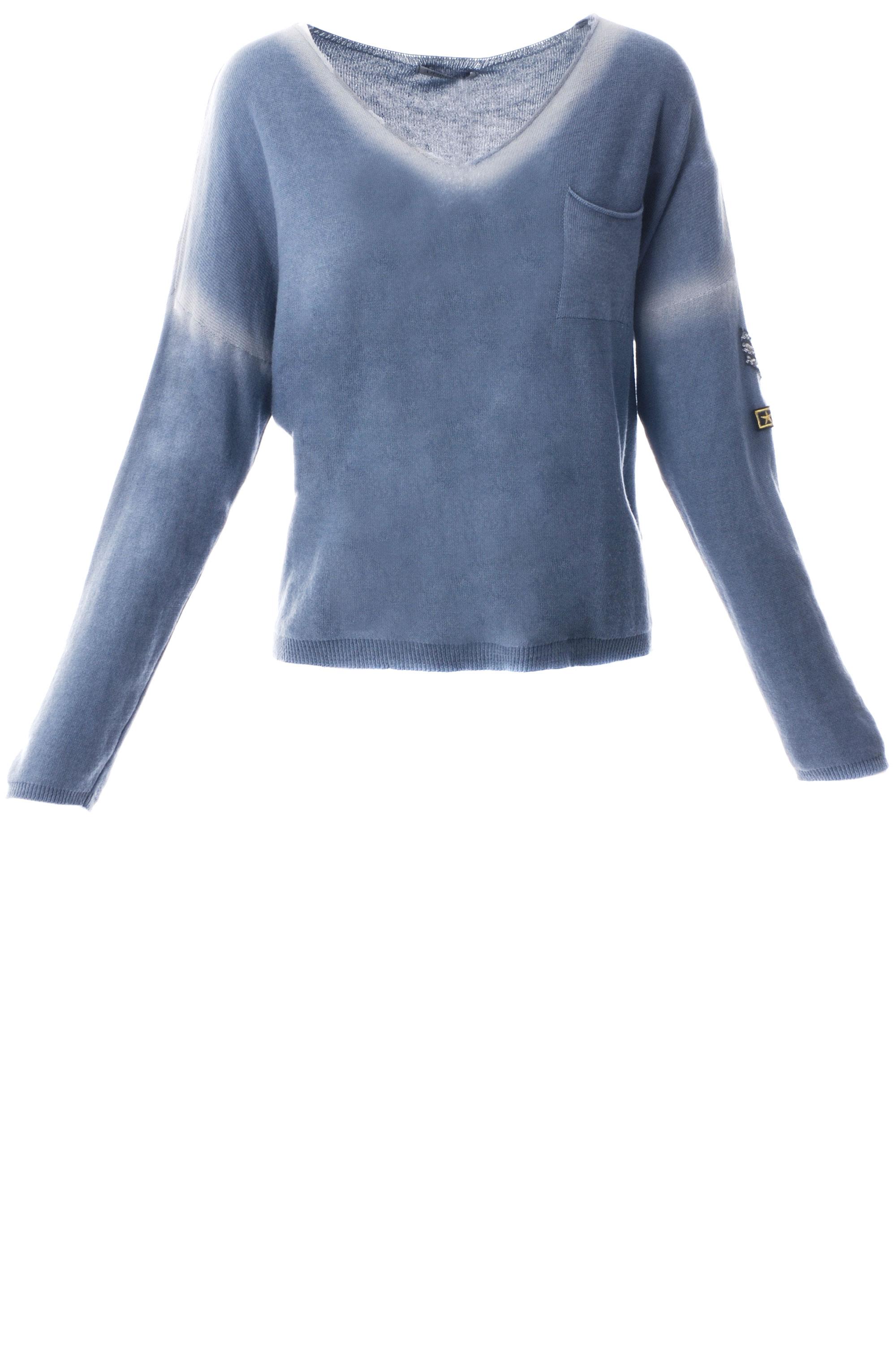 Sweter - 41-1004 BLU - Unisono