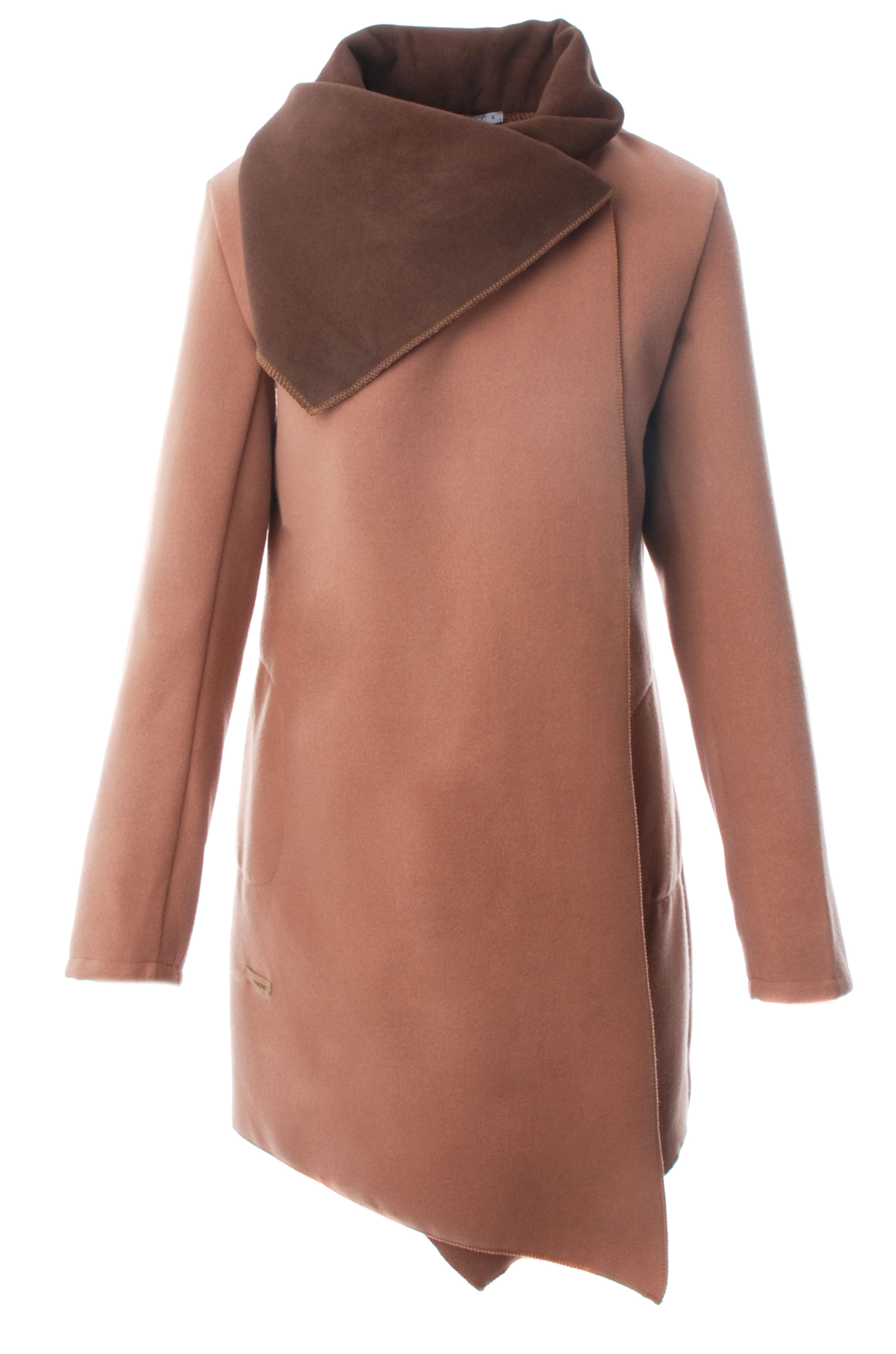 Płaszcz materiałowy - 1-5056 BEI-FA - Unisono