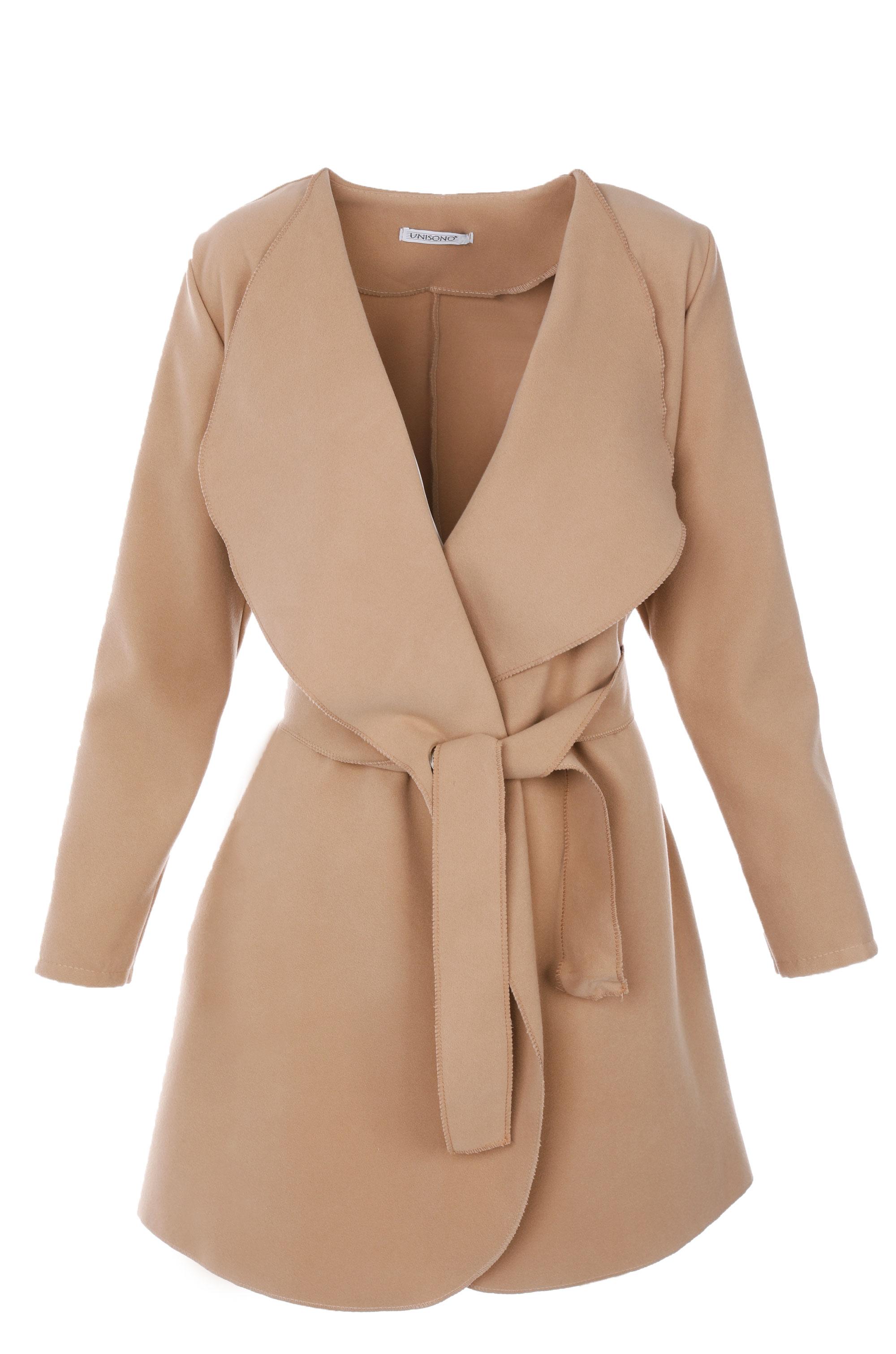 Płaszcz materiałowy - 71-22245 BEIG - Unisono
