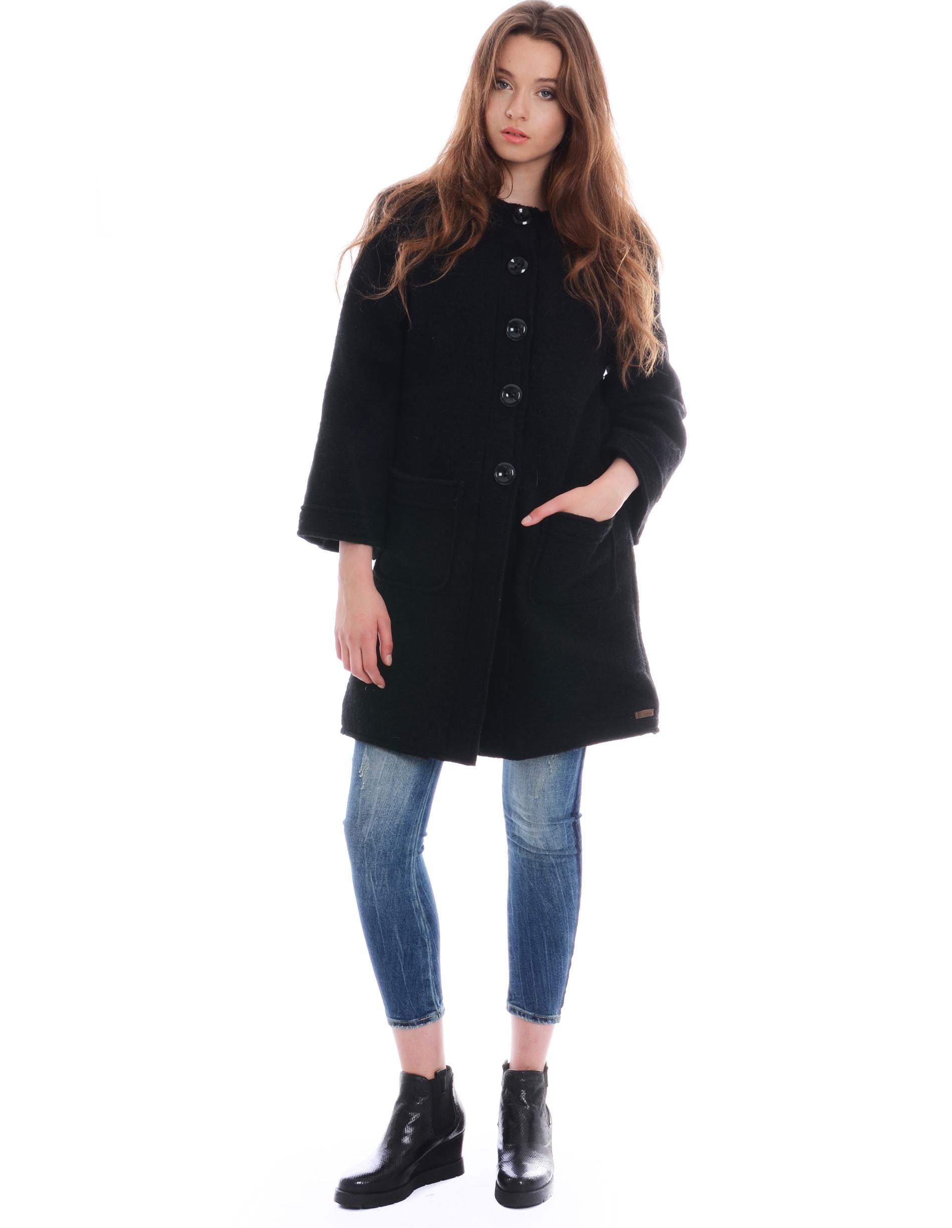 Płaszcz materiałowy - 67-6868 NERO - Unisono