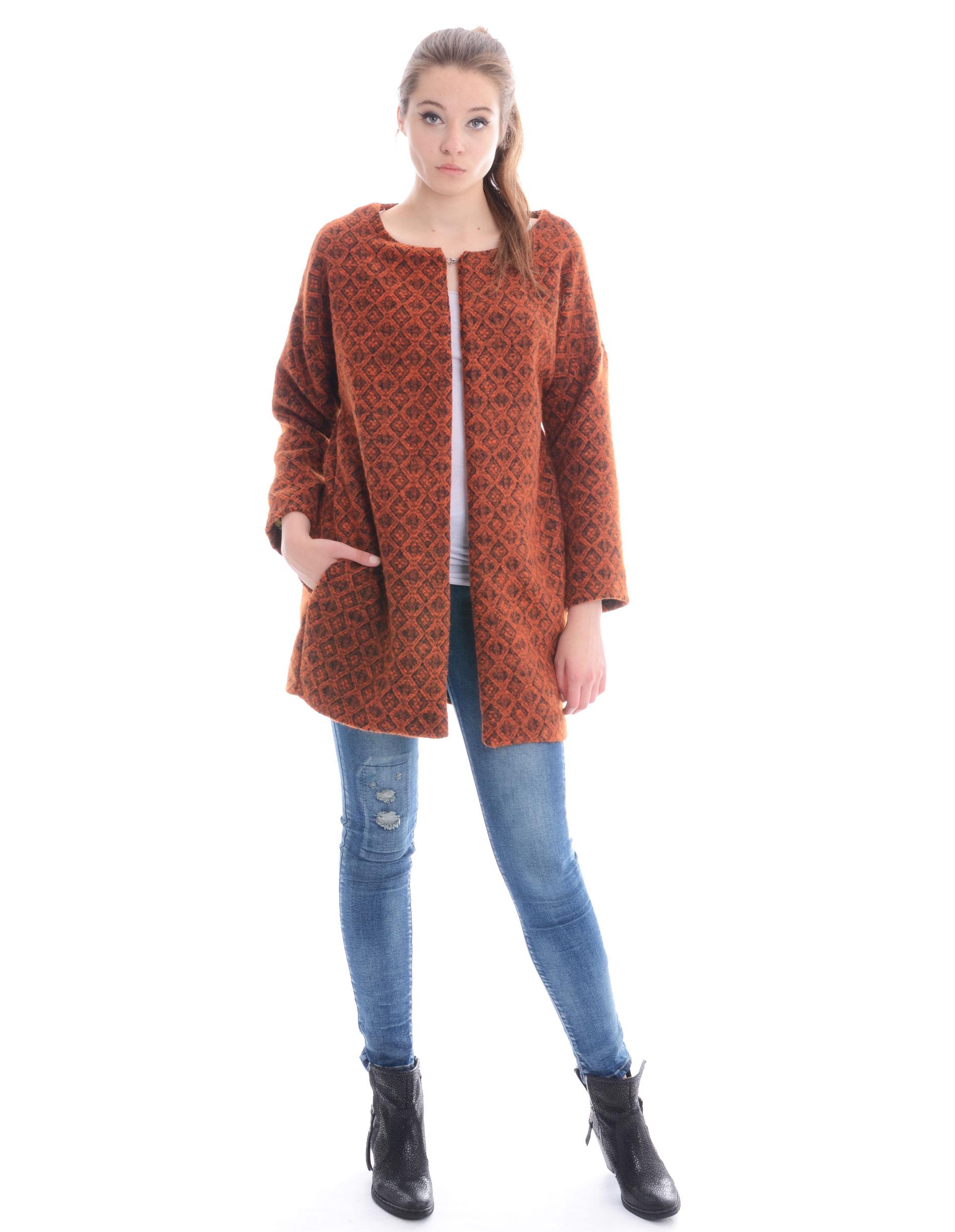 Płaszcz materiałowy - 132-15816 ARA - Unisono