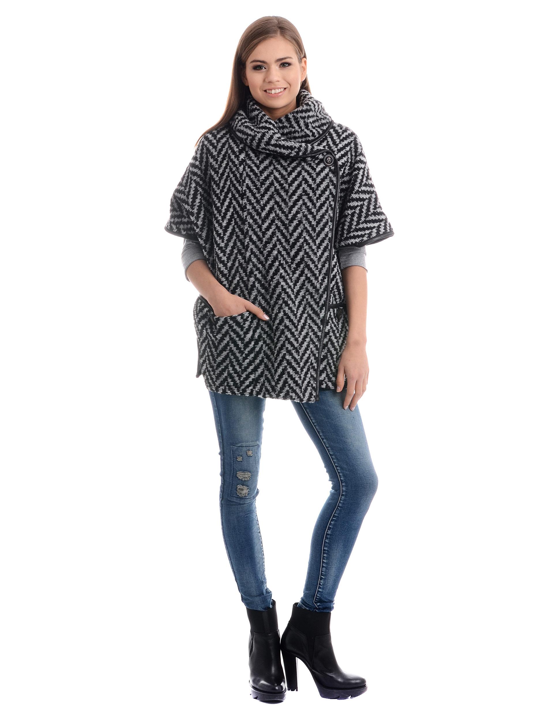 Płaszcz materiałowy - 4674 NERO-PAN - Unisono