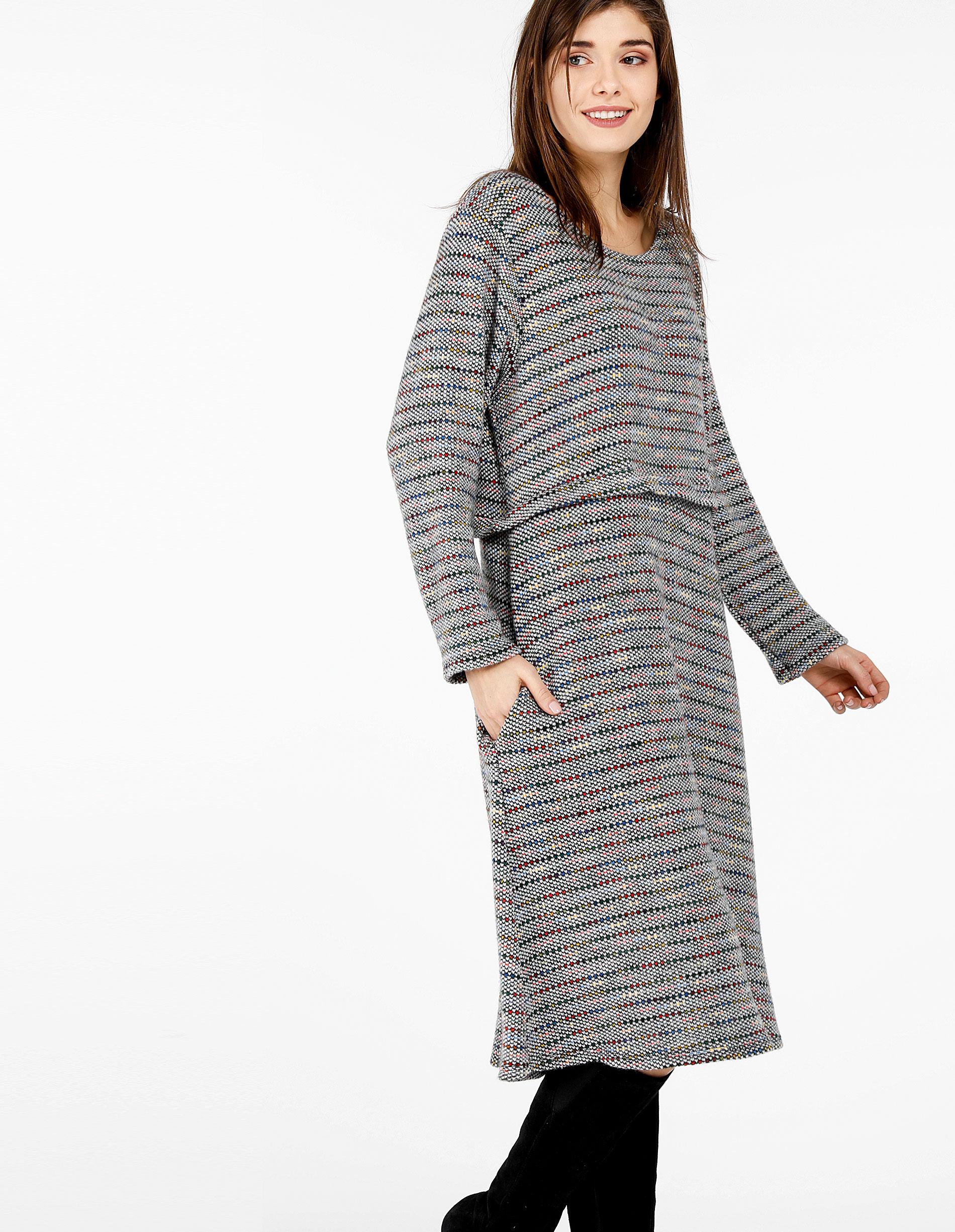 Sukienka - 142-645 GR CH - Unisono