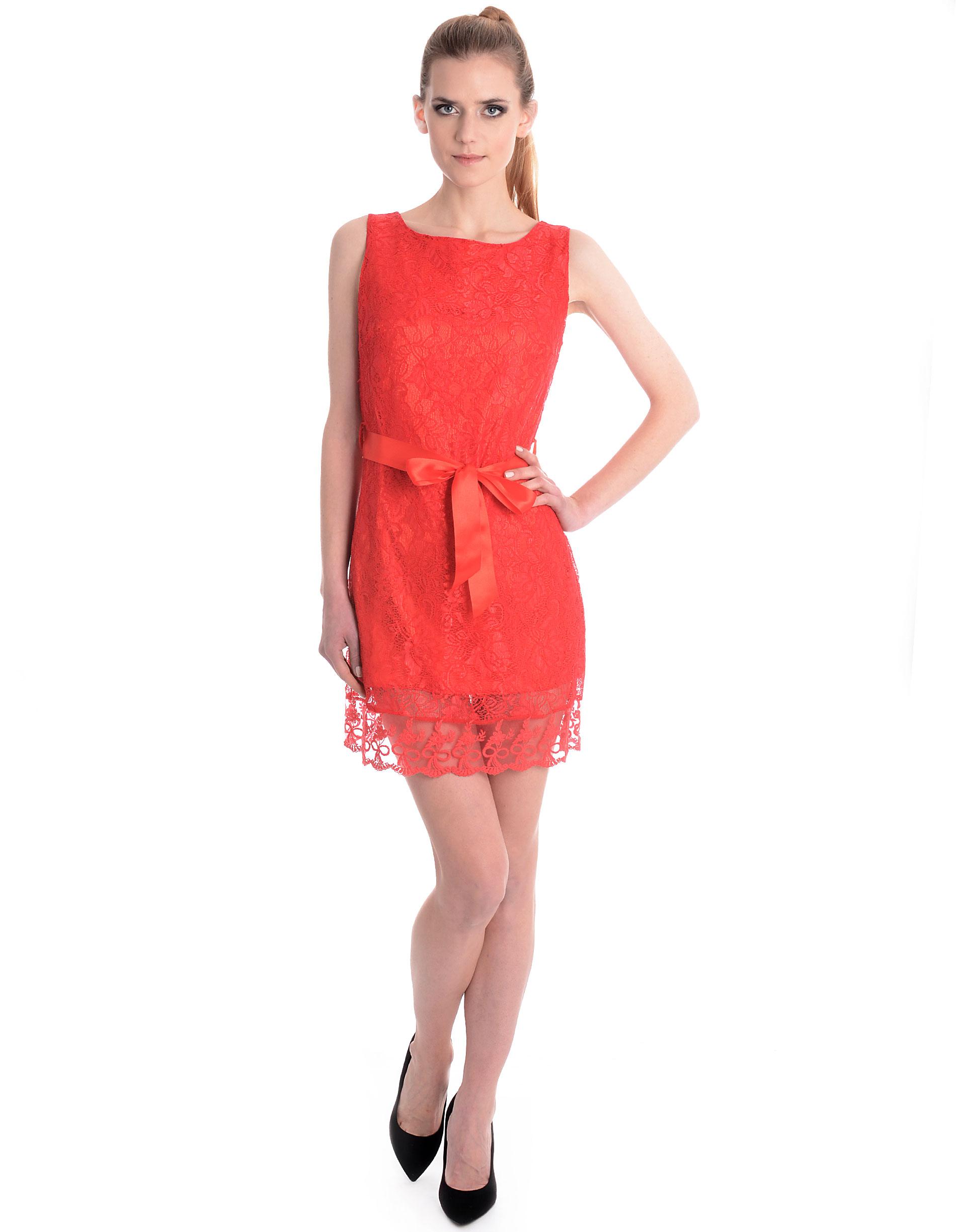 Sukienka - 46-2309 ROSSO - Unisono