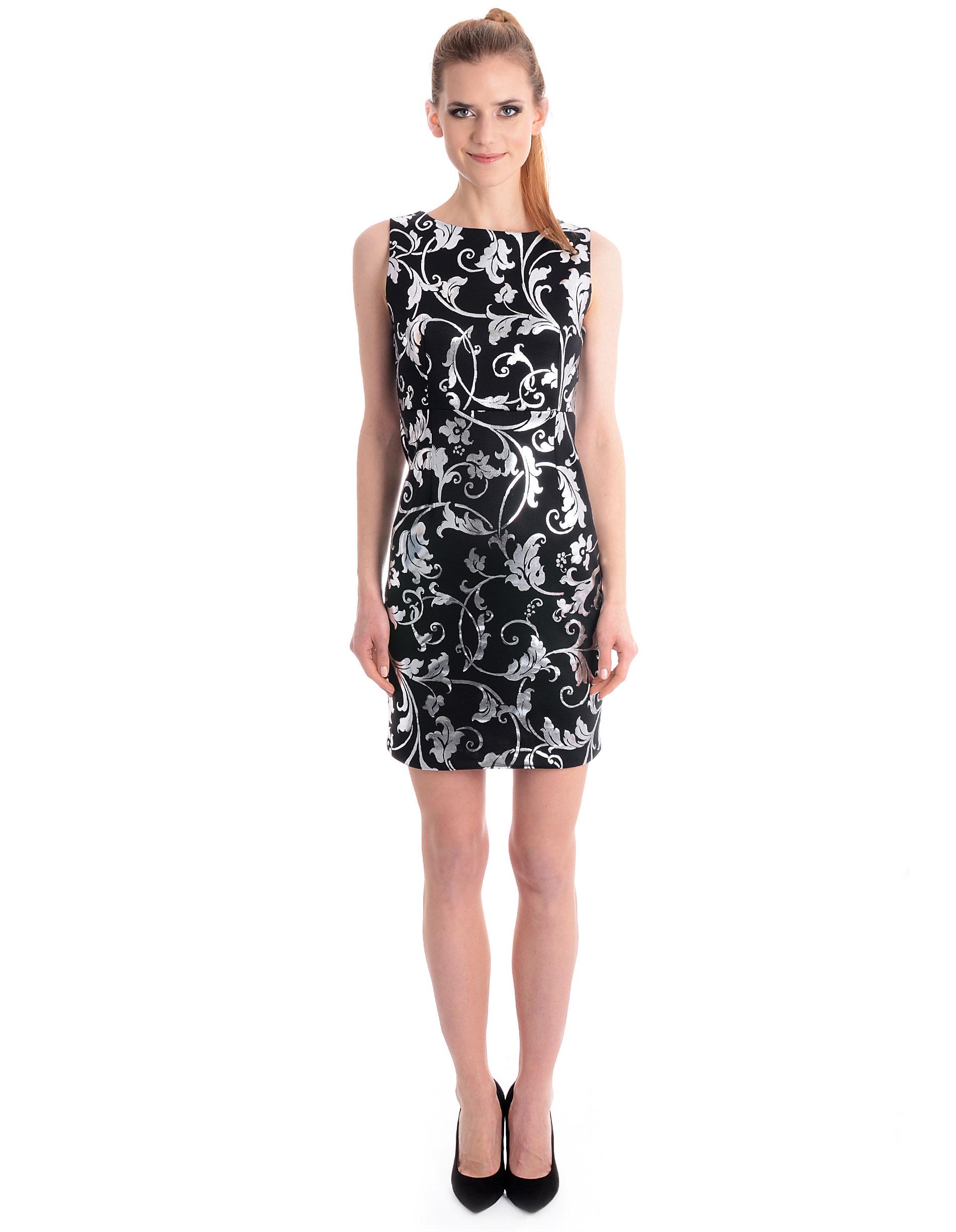 Sukienka - 46-2493 NERO - Unisono