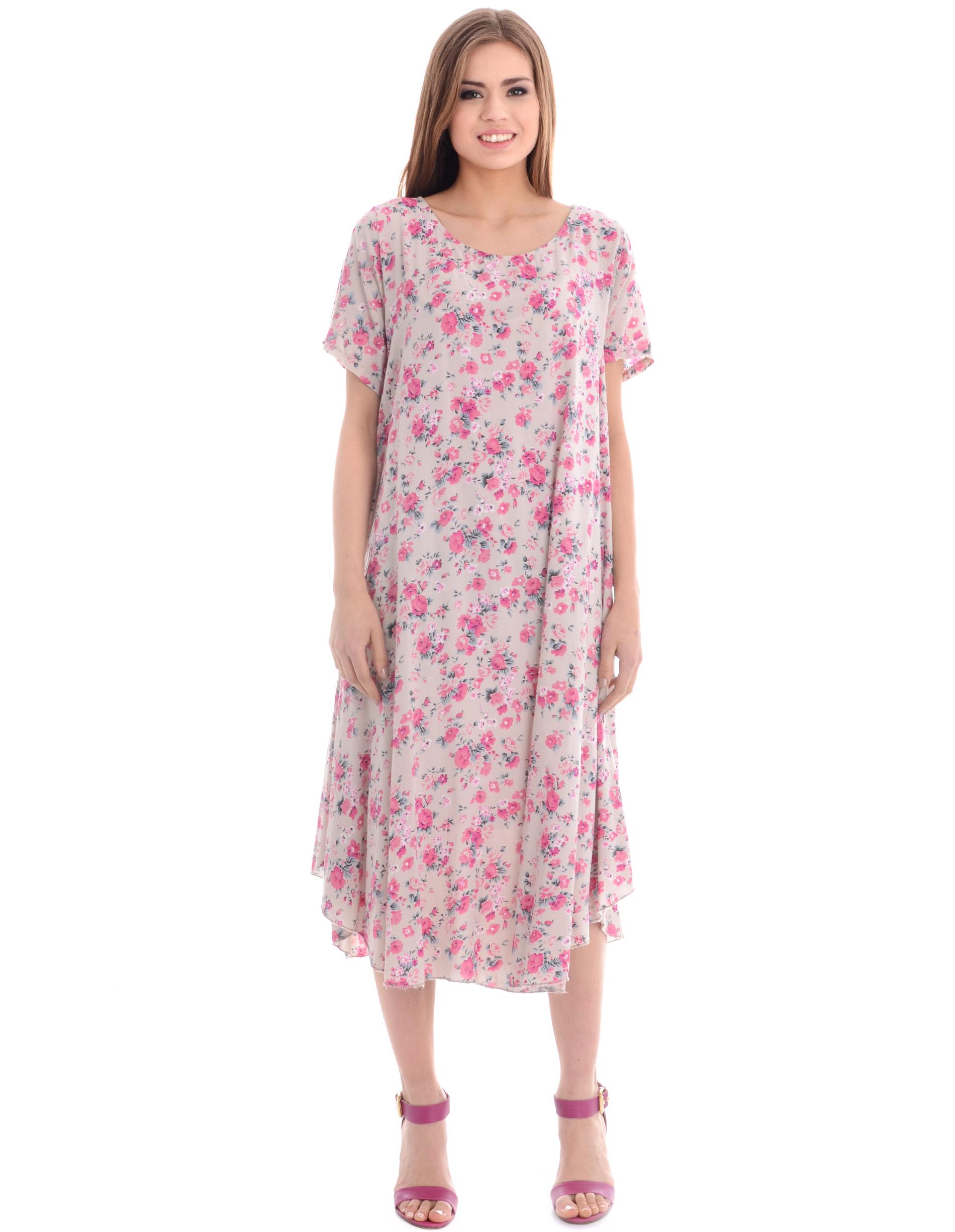 Sukienka - 75-8614 BEIGE - Unisono