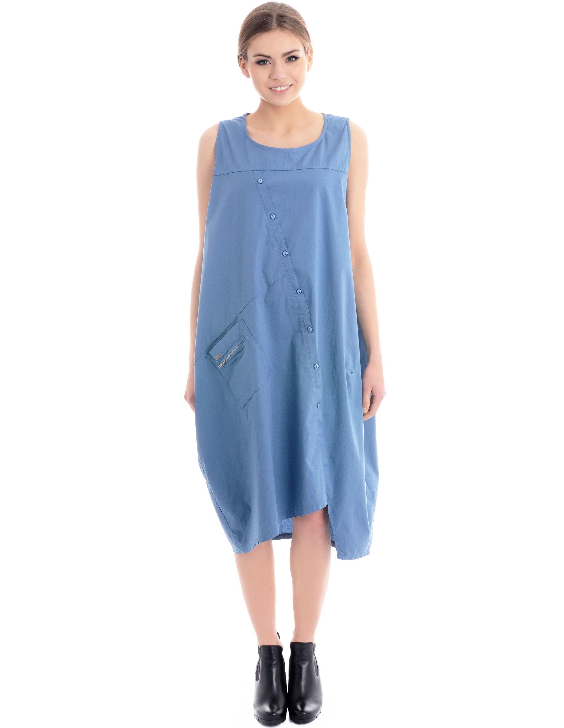Sukienka - 4-7033 JEANS - Unisono