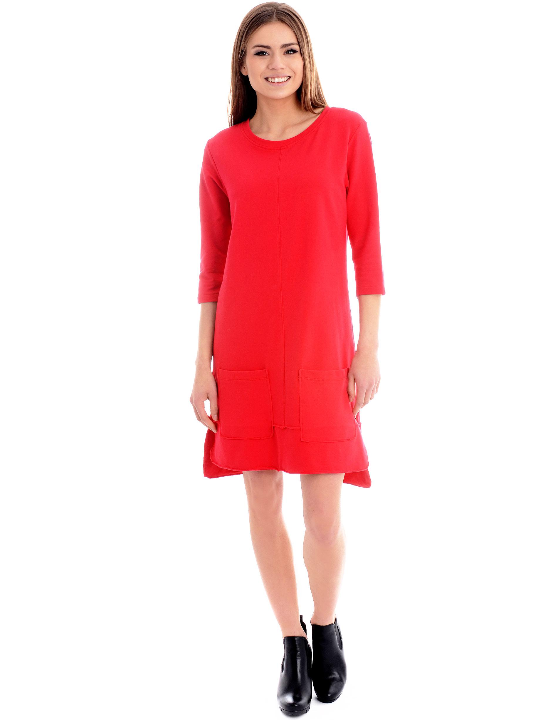 Sukienka - 94-001 ROSSO - Unisono