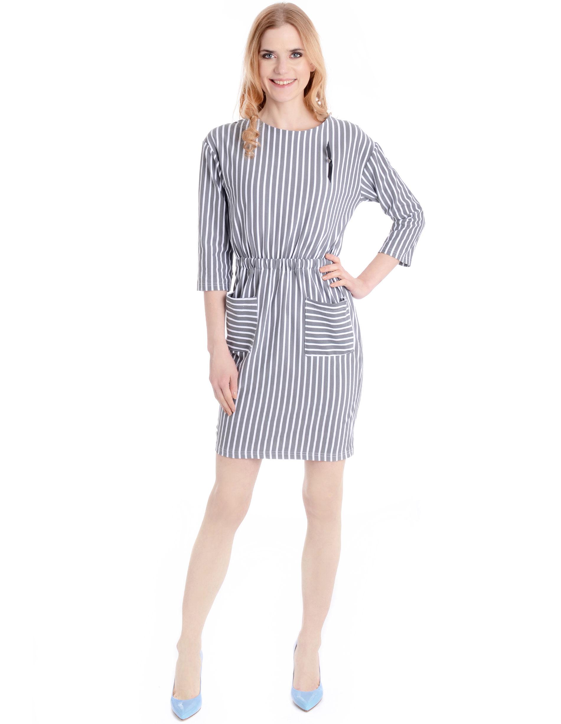 Sukienka - 90-6575 BI-GR - Unisono