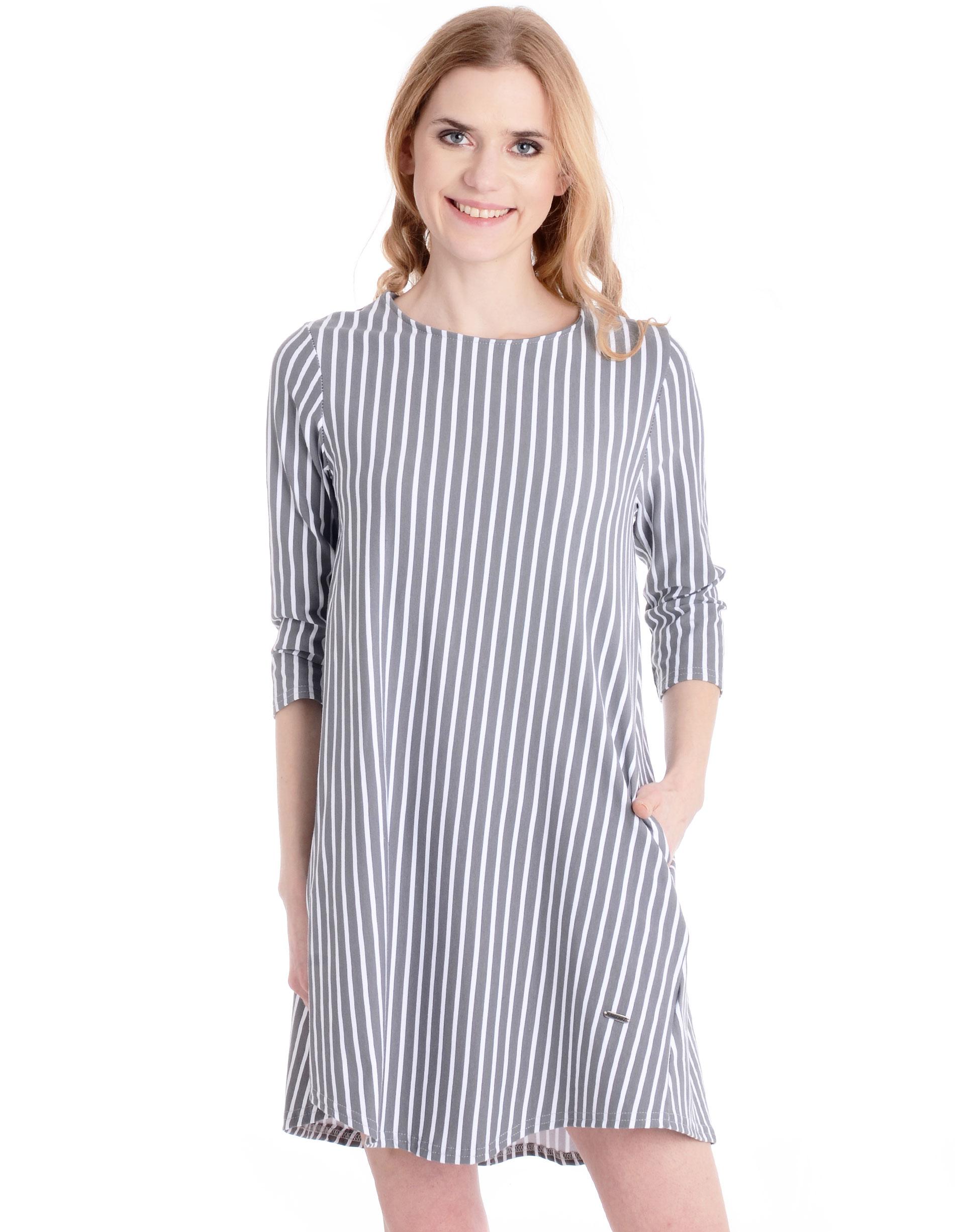 Sukienka - 90-6580 BI-GR - Unisono