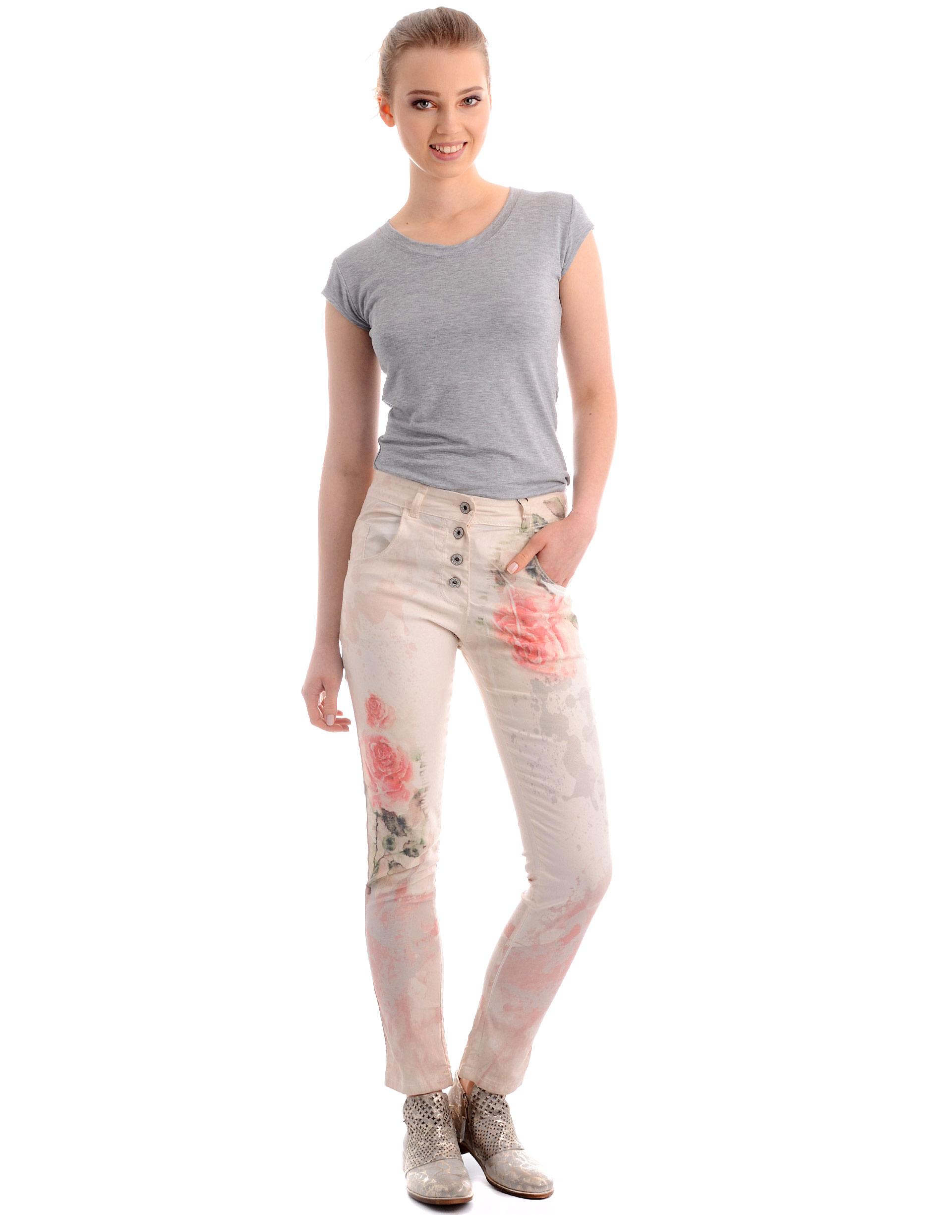 Spodnie - 104-1118R BEI - Unisono