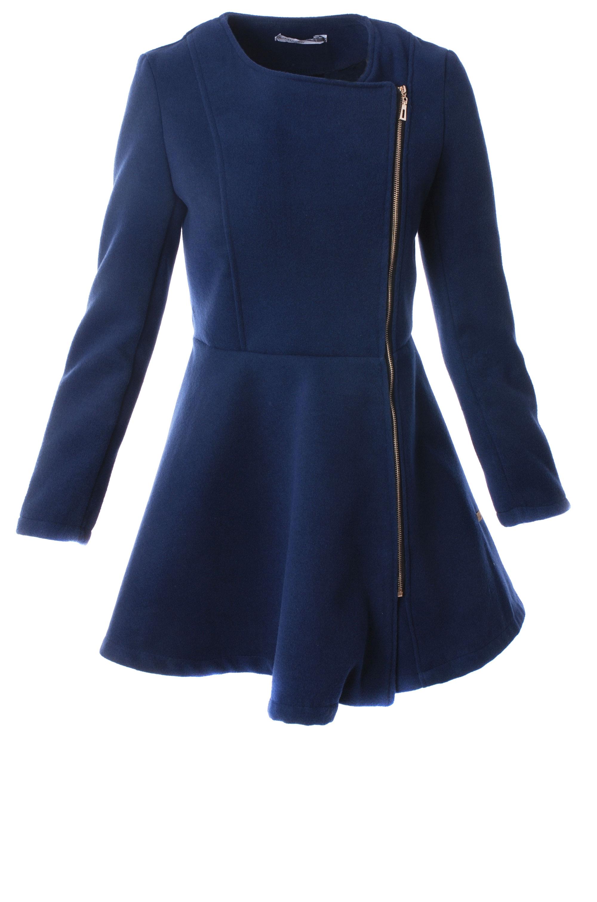 Płaszcz materiałowy - 65-6176 BL SC - Unisono