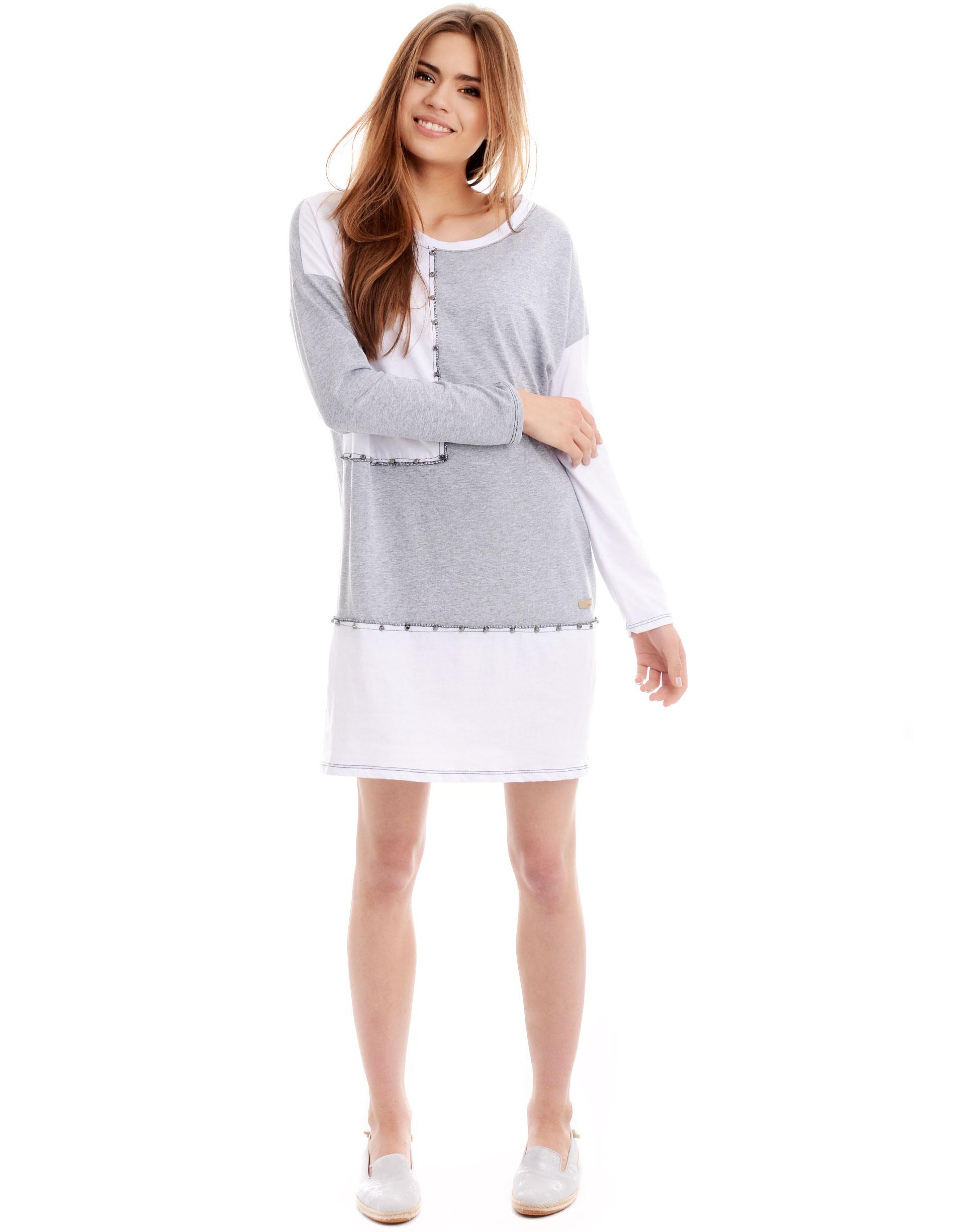 Sukienka - 137-2803A G-B - Unisono