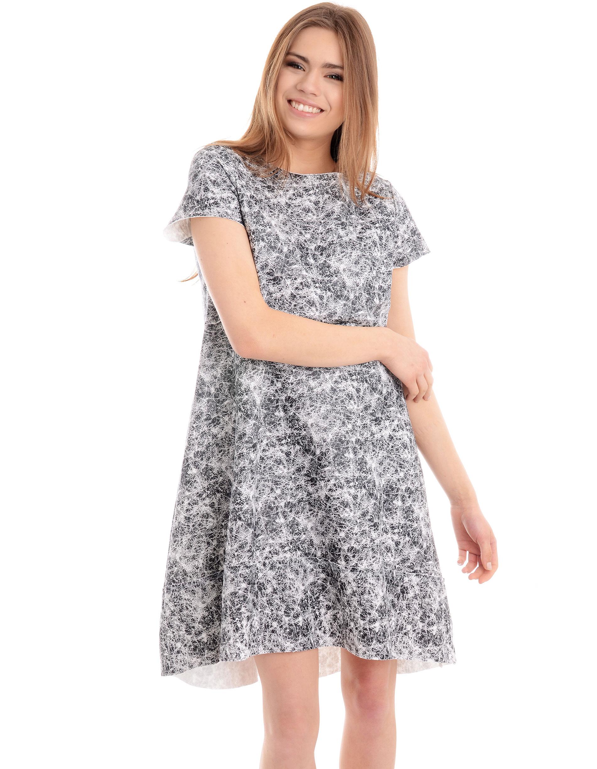 Sukienka - 90-327 BIANCO - Unisono