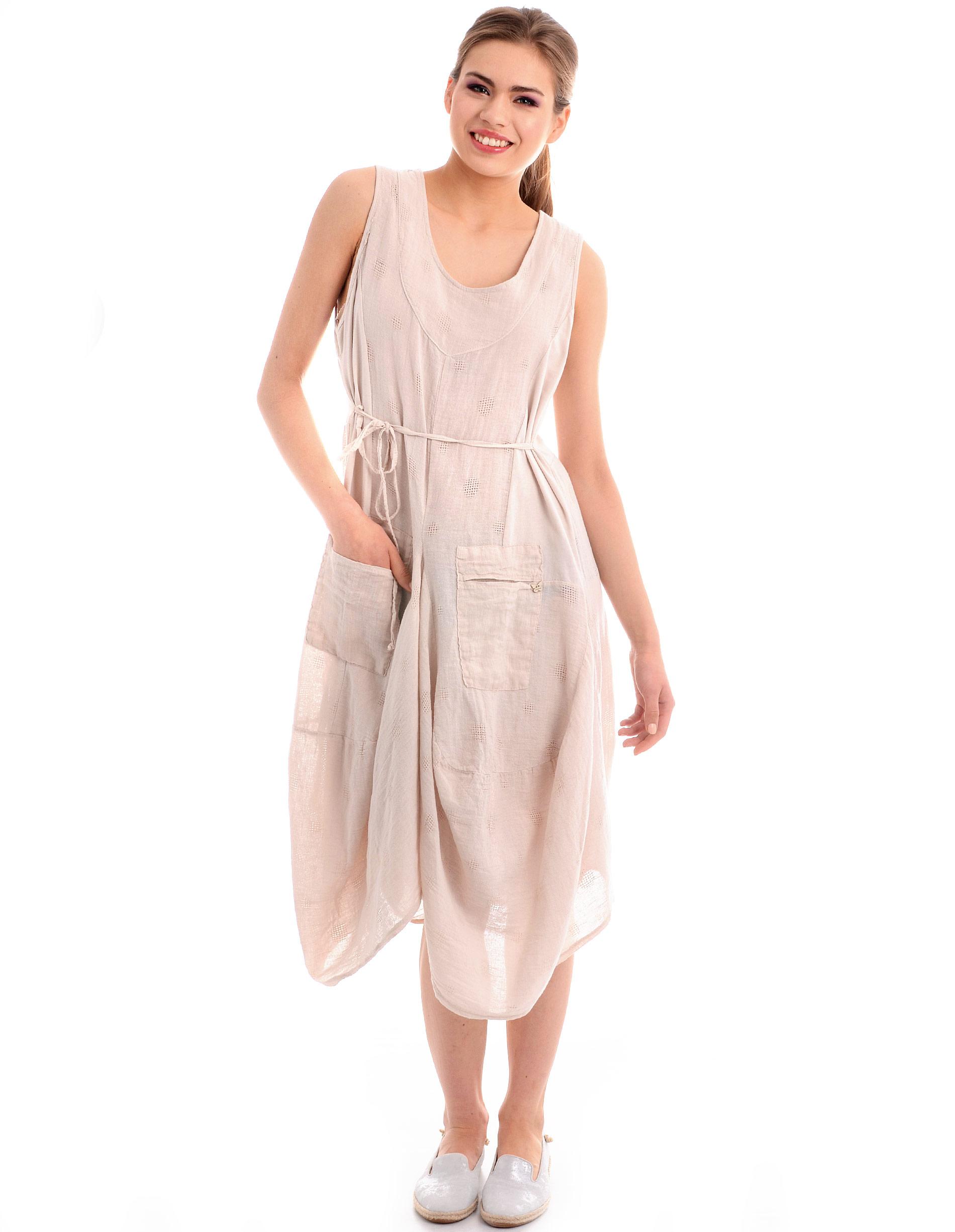 Sukienka - 1-88014 BEIGE - Unisono