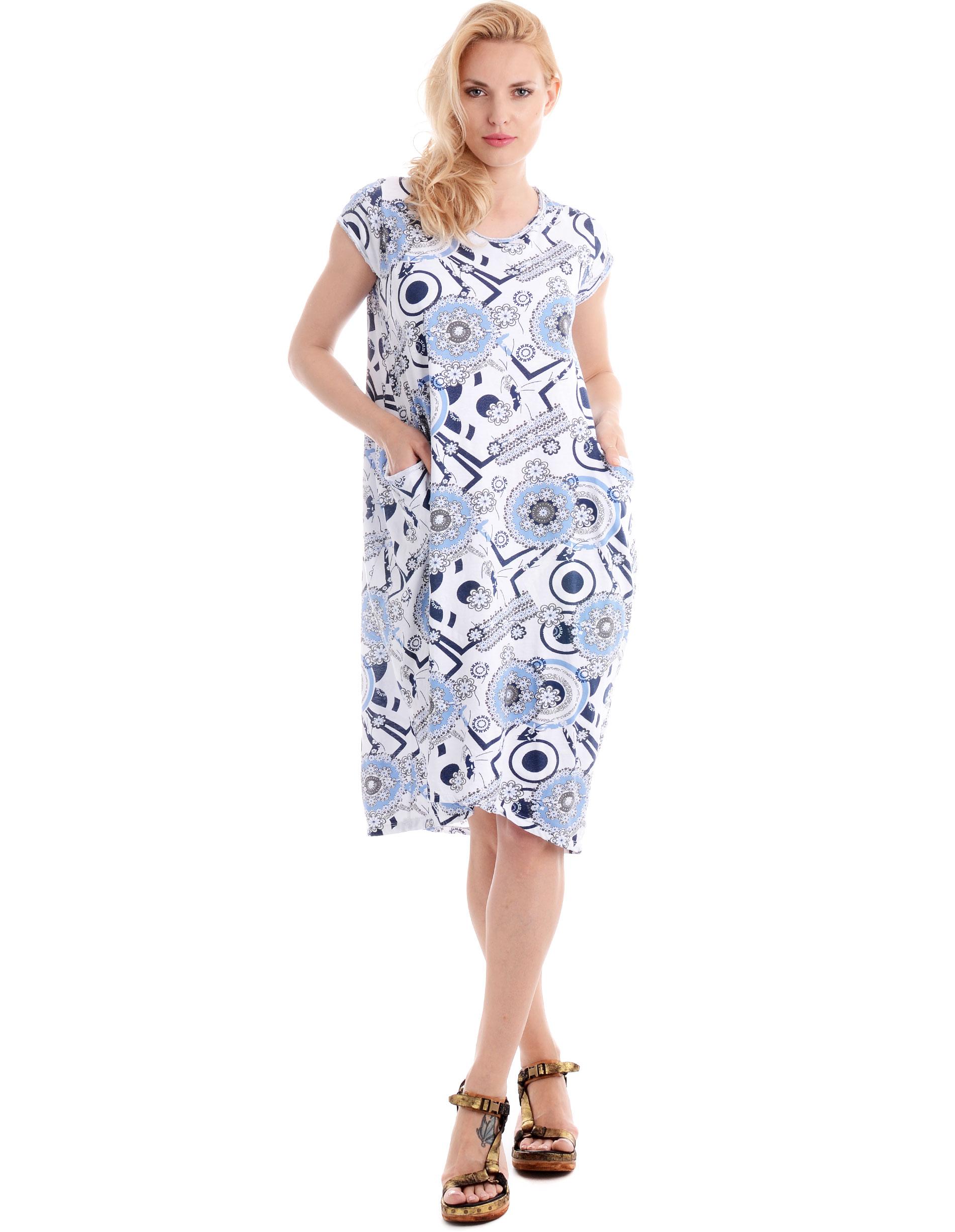 Sukienka - 34-306A BIANC - Unisono
