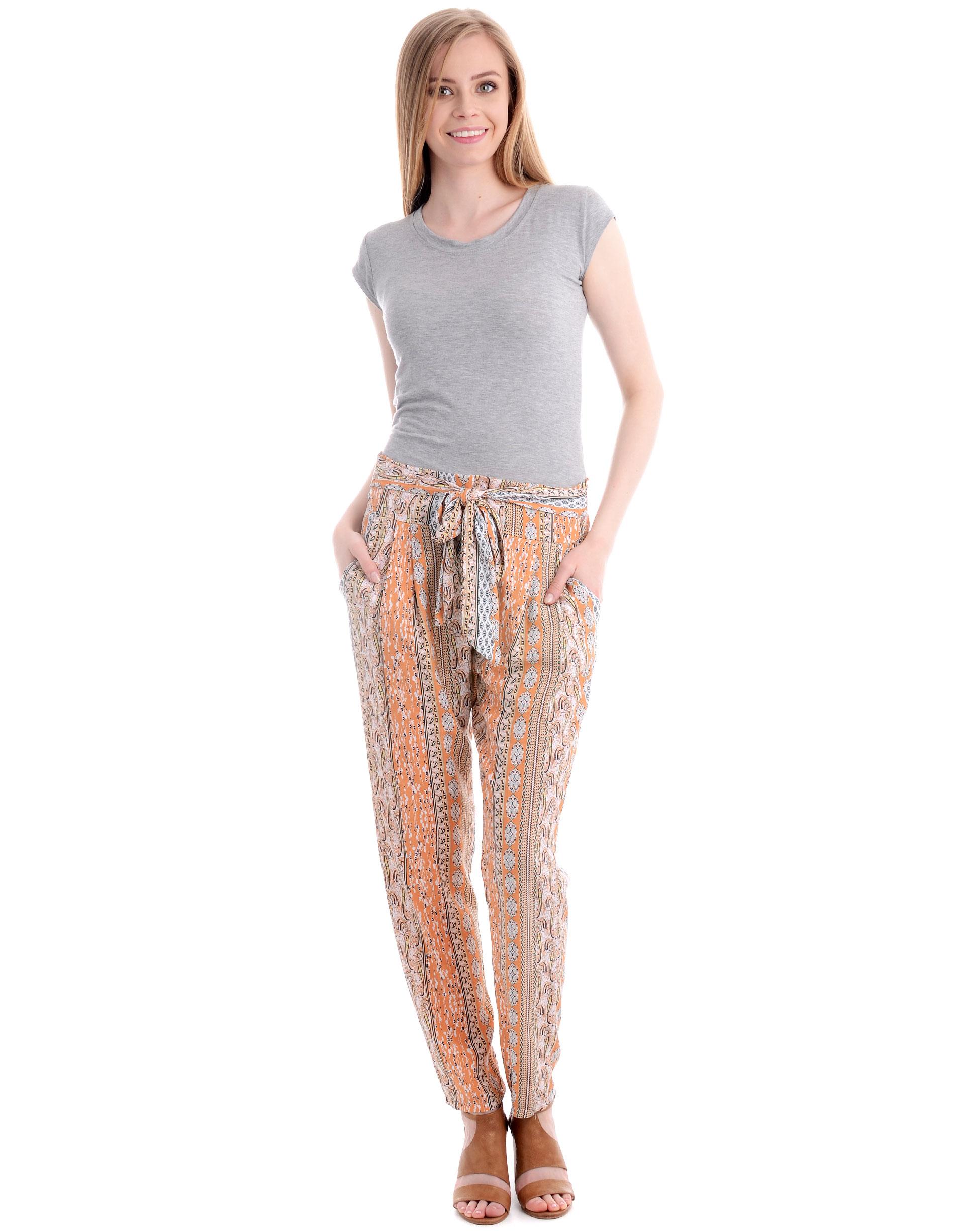 Spodnie - 13-16184A BEI - Unisono