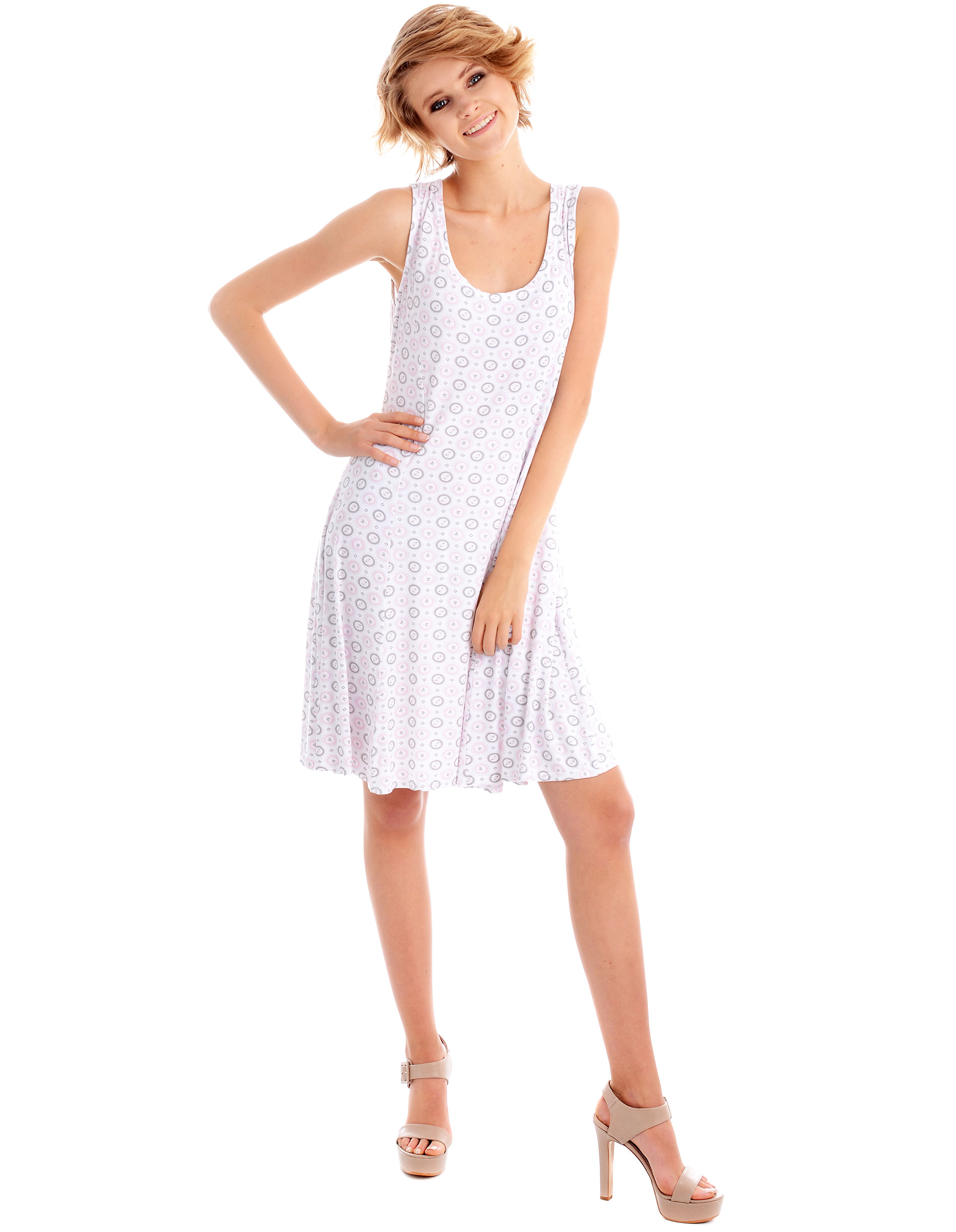 Sukienka - 16-1335SM BIA - Unisono