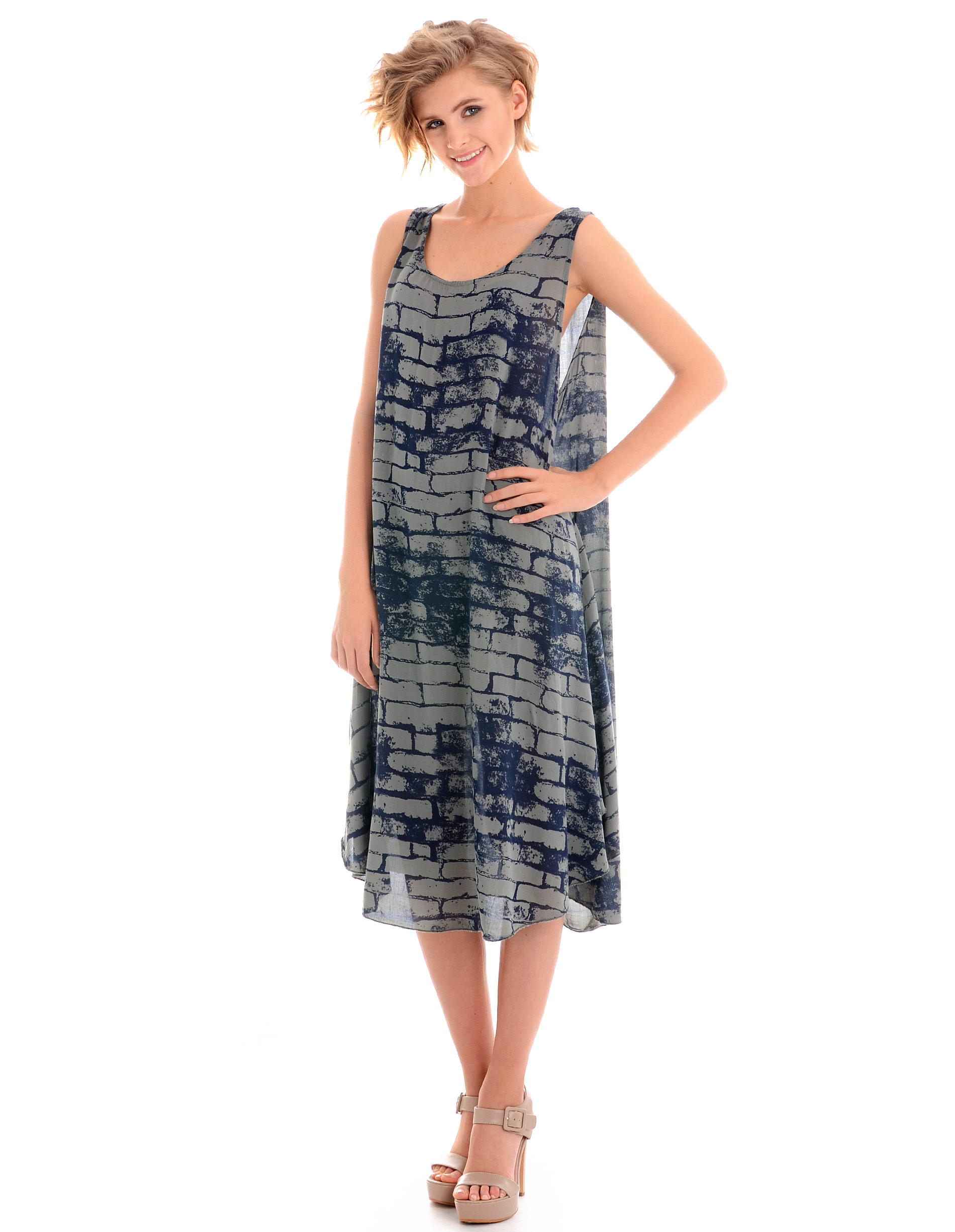 Sukienka - 15-2637 MILIT - Unisono