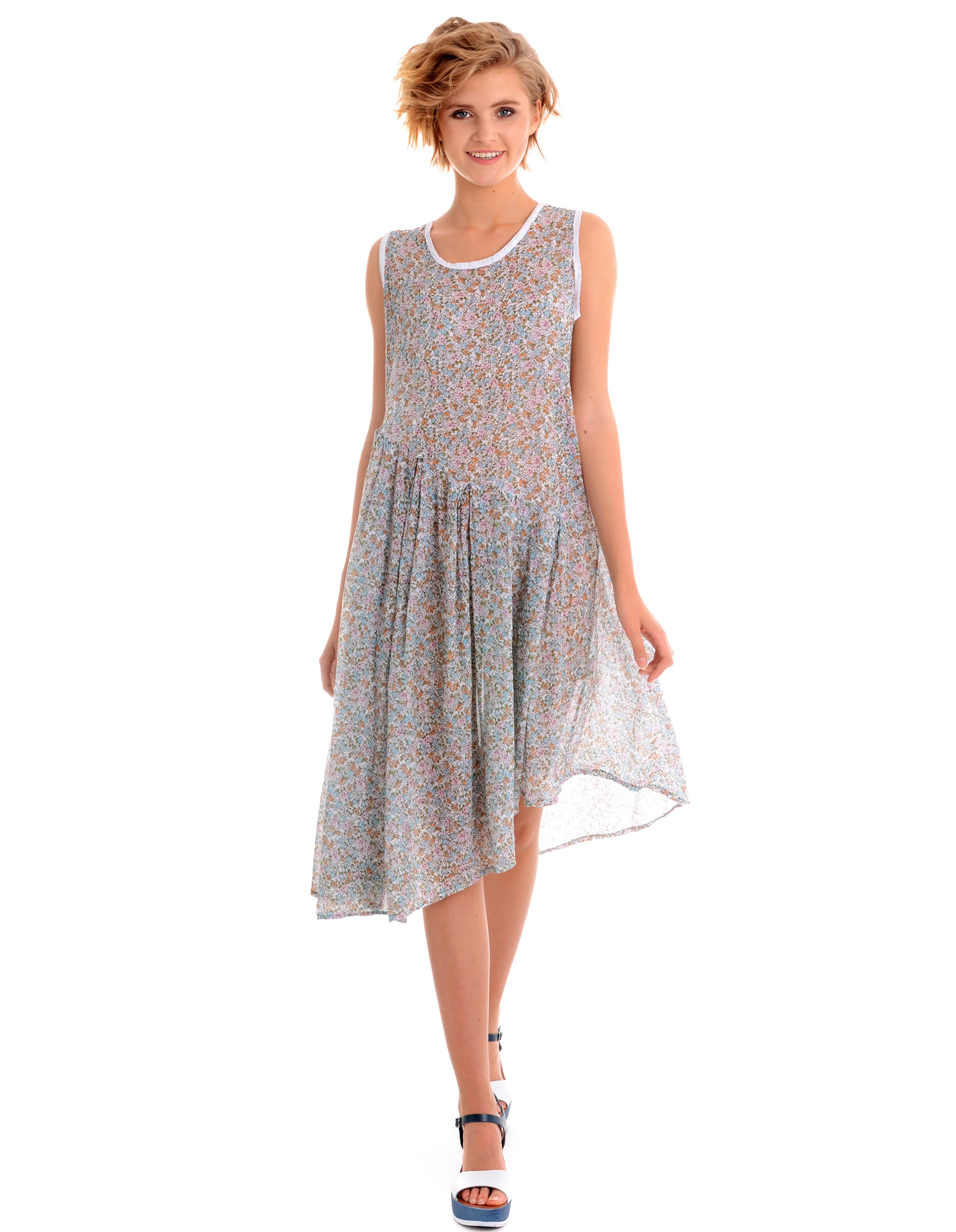 Sukienka - 16-3636 BIANC - Unisono