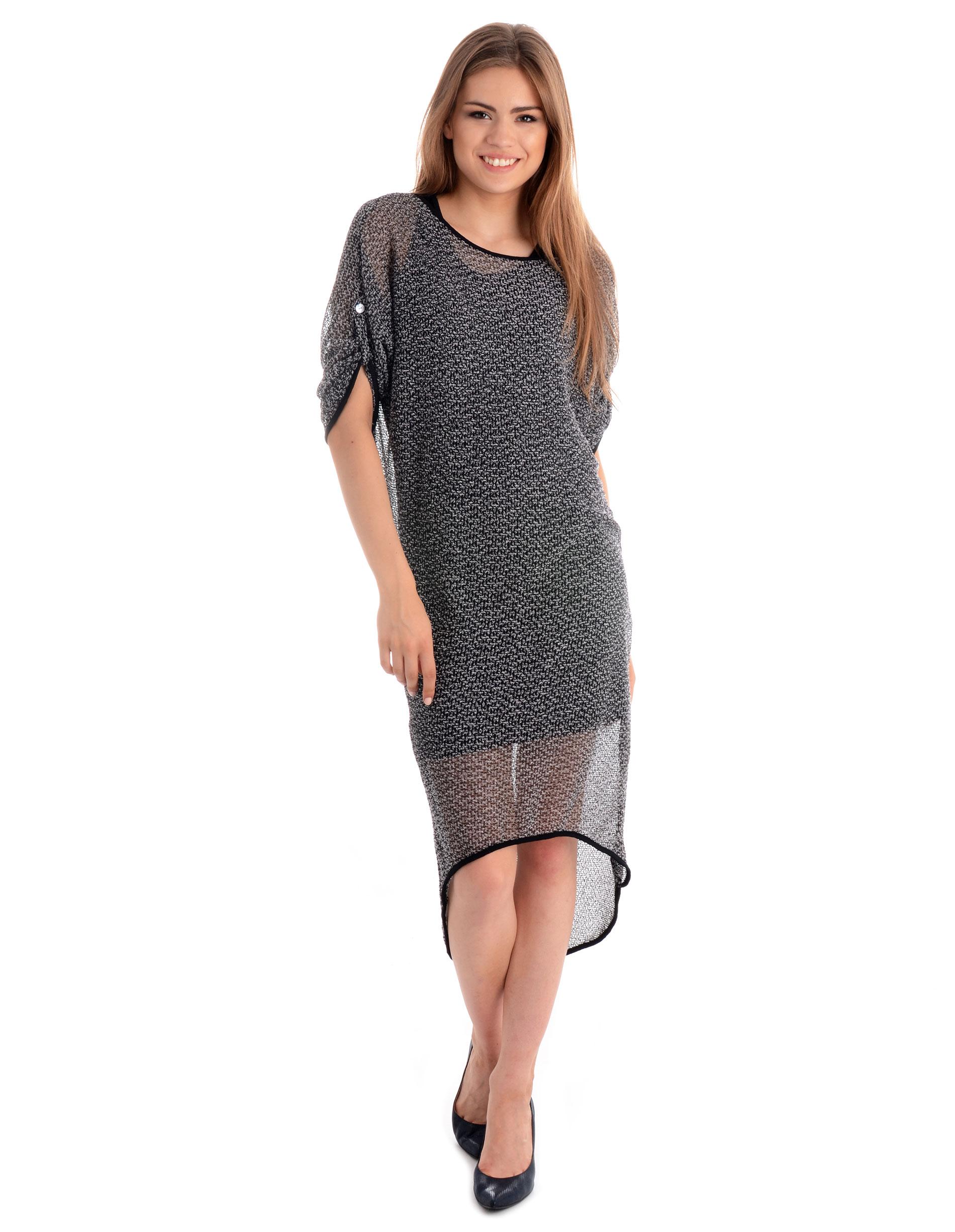 Sukienka - 65-6116 NERO - Unisono
