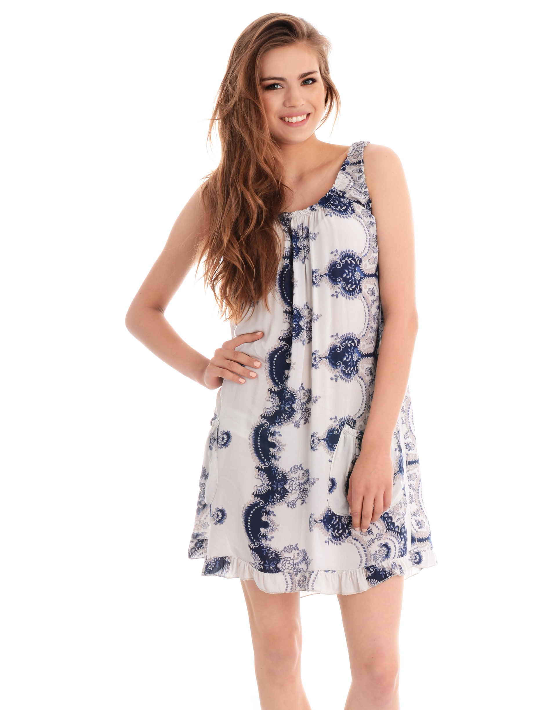 Sukienka - 115-2856 BEIG - Unisono