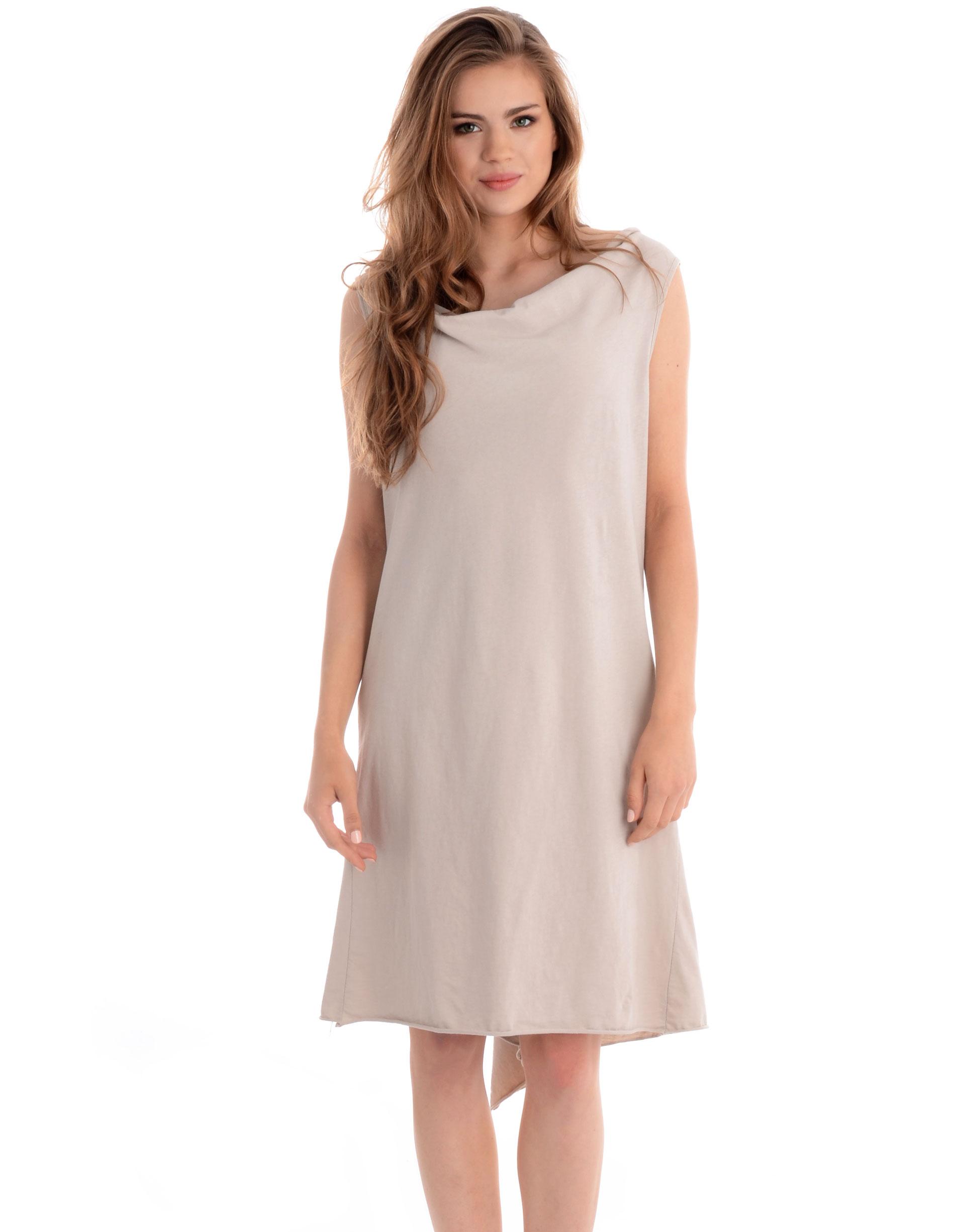 Sukienka - 130-1062 BEIG - Unisono