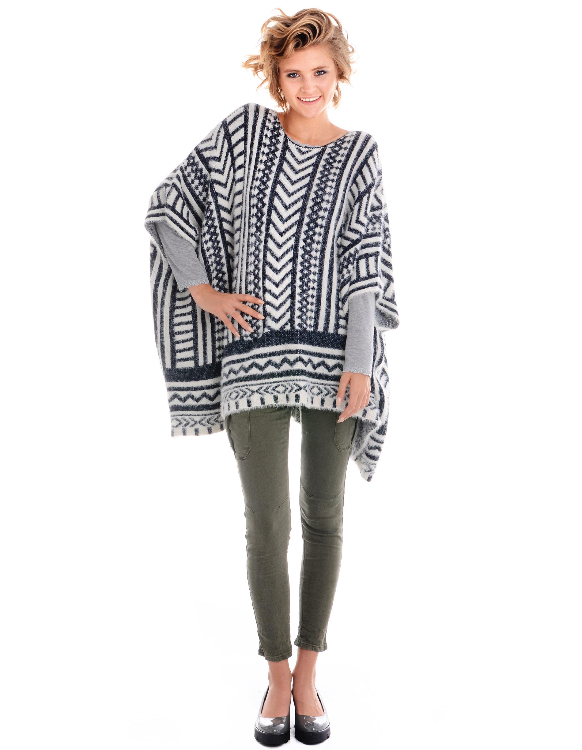 Sweter - 78-2858 BLU - Unisono