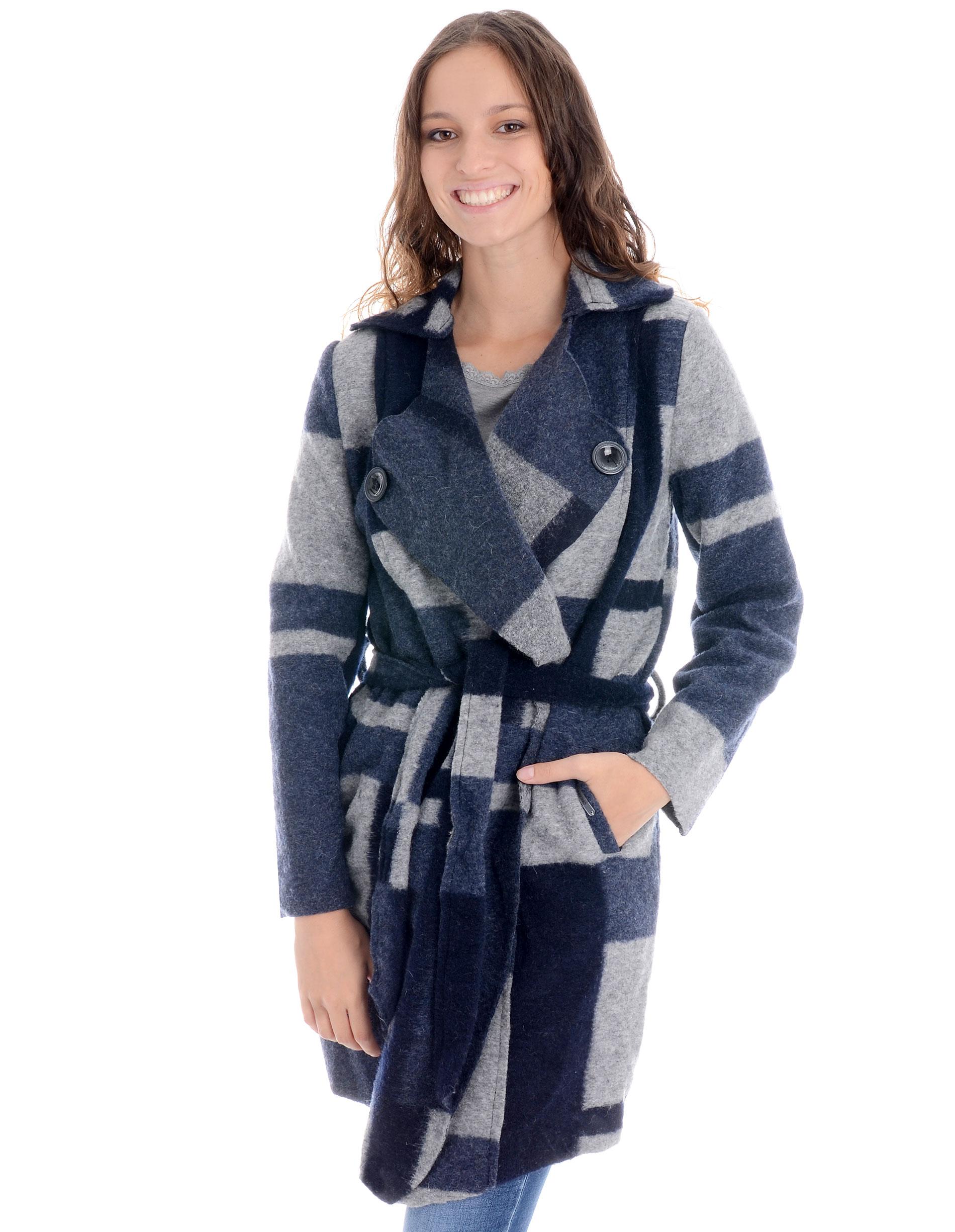Płaszcz materiałowy - 34-3688 BL SC - Unisono