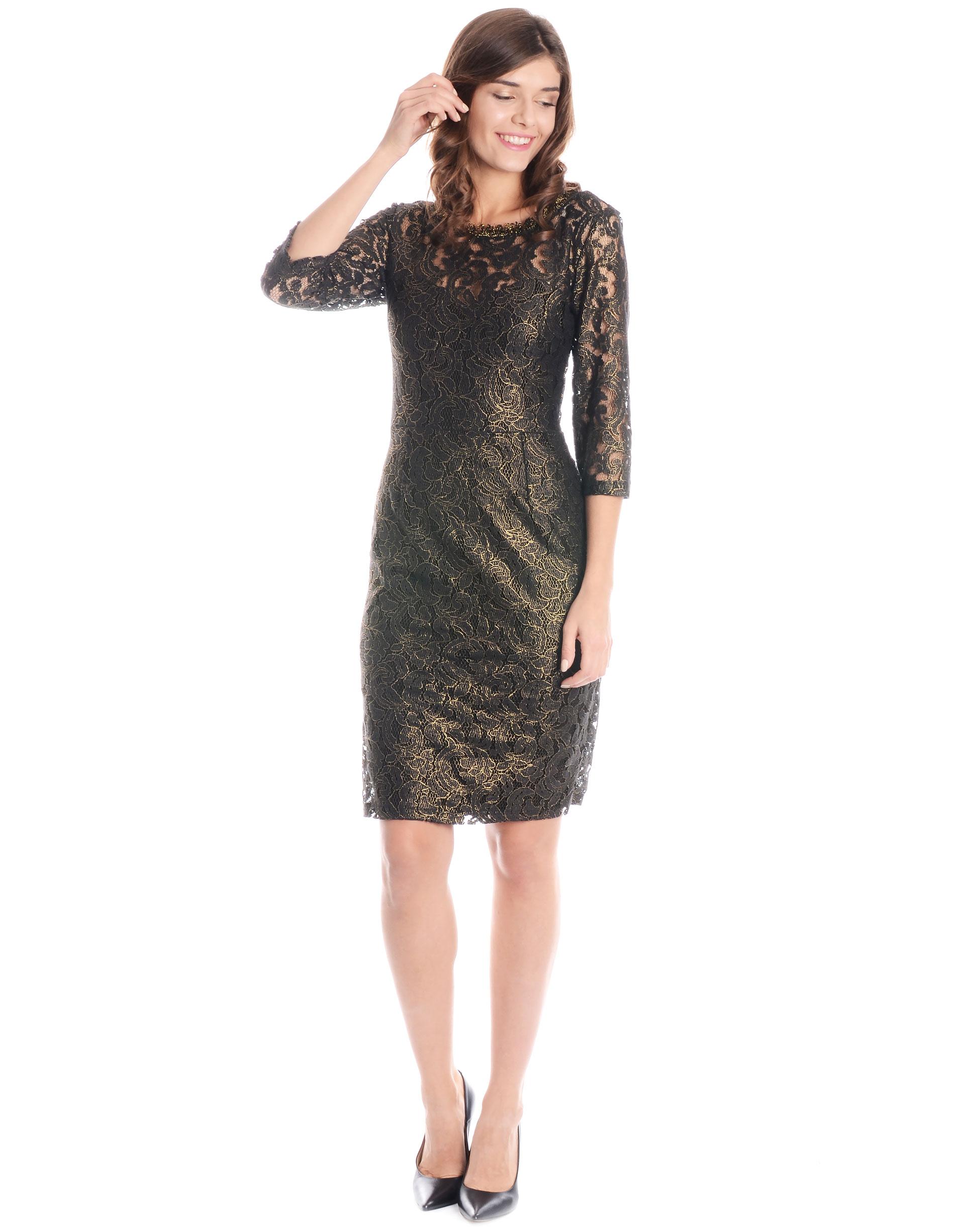 Sukienka - 46-2956 NERO - Unisono