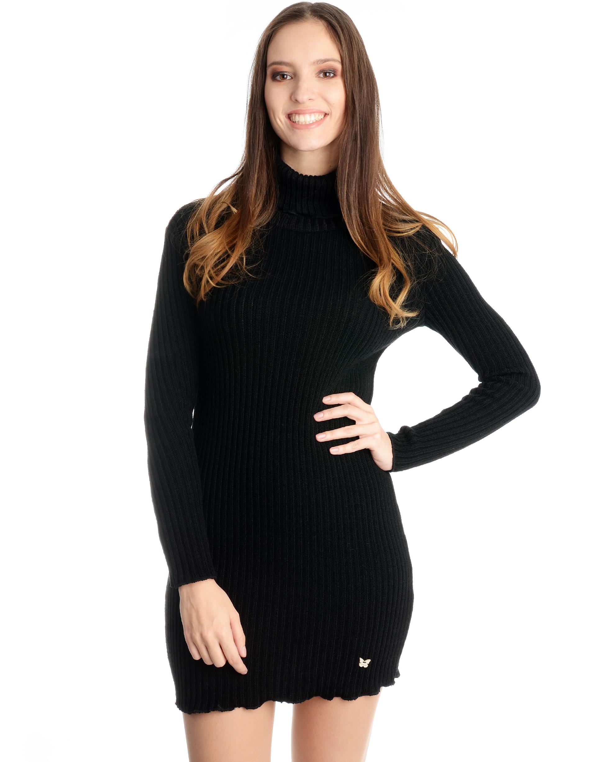 Sukienka - 16-16065 NERO - Unisono