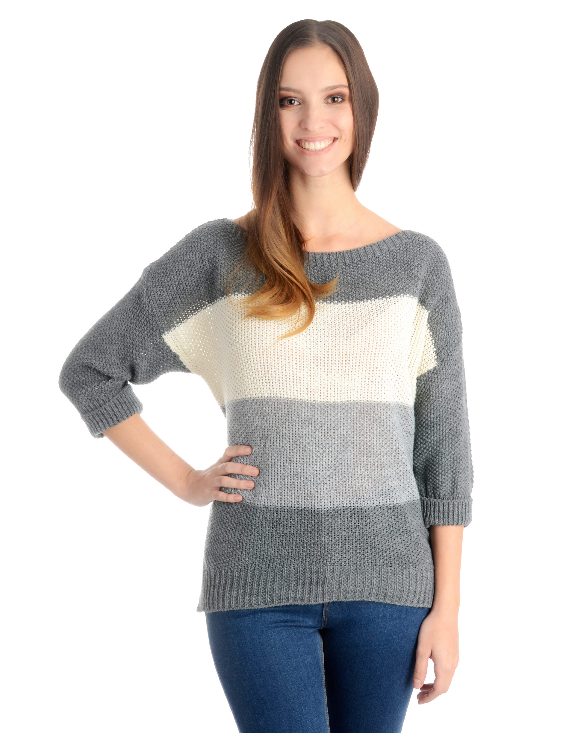 Sweter - 4-1557R GRIGI - Unisono