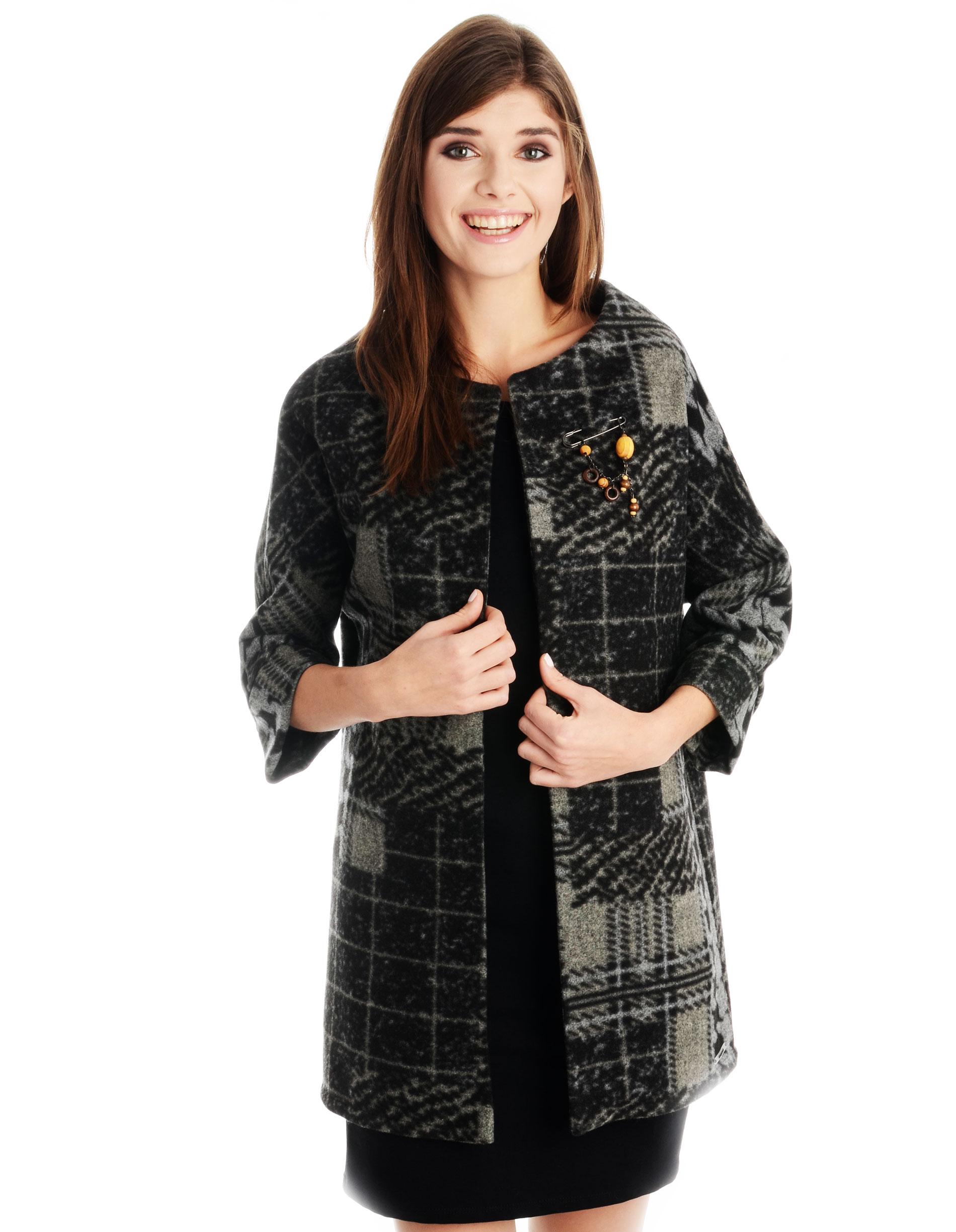 Płaszcz materiałowy - 34-3729 GRIGI - Unisono
