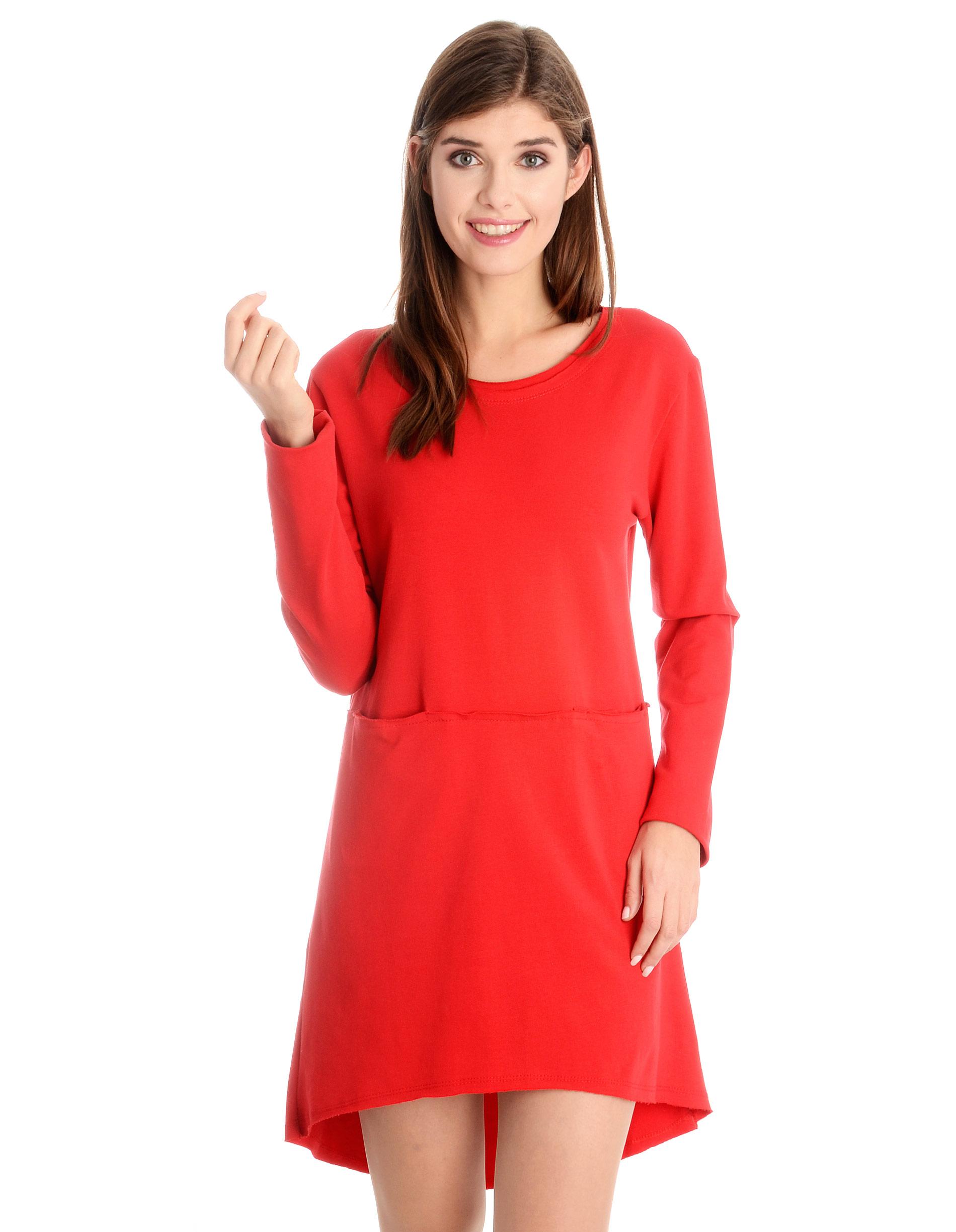 Sukienka - 118-726 ROSSO - Unisono