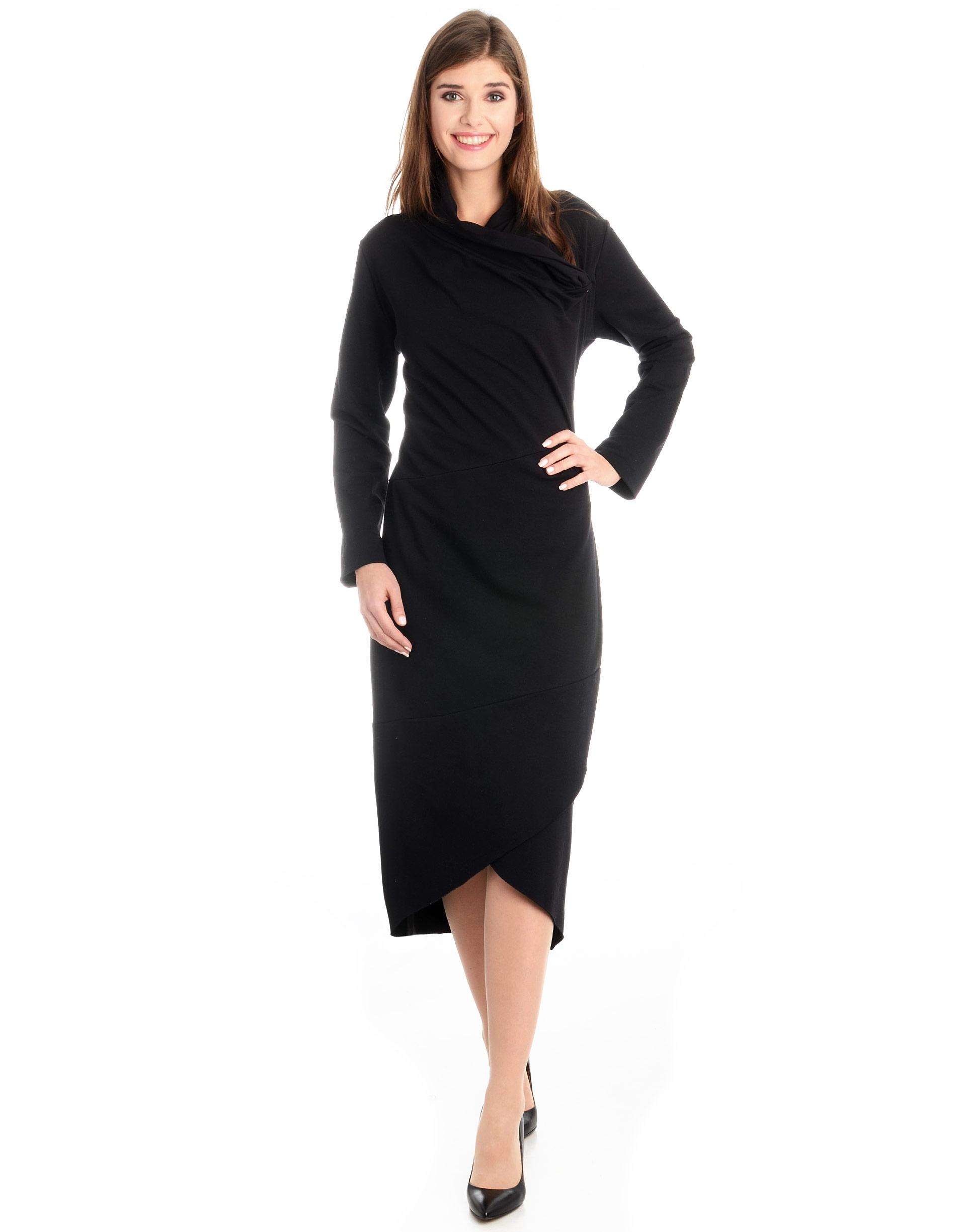 Sukienka - 118-754 NERO - Unisono