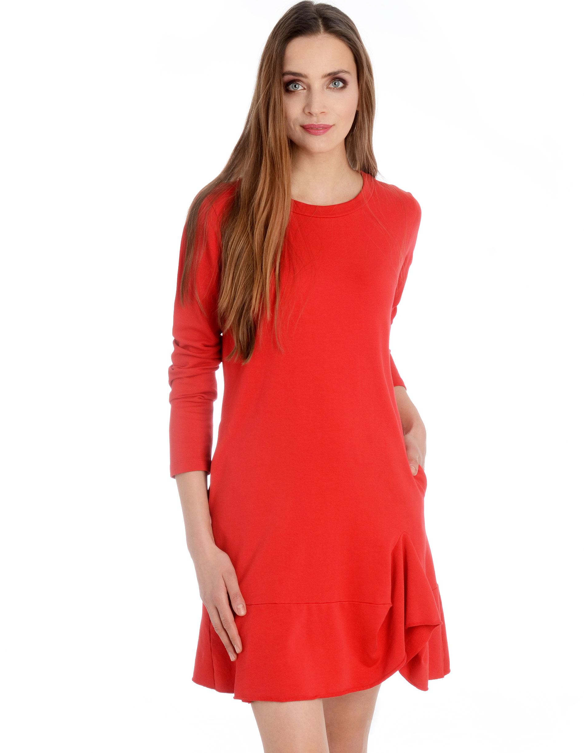 Sukienka - 80-2518 ROSSO - Unisono