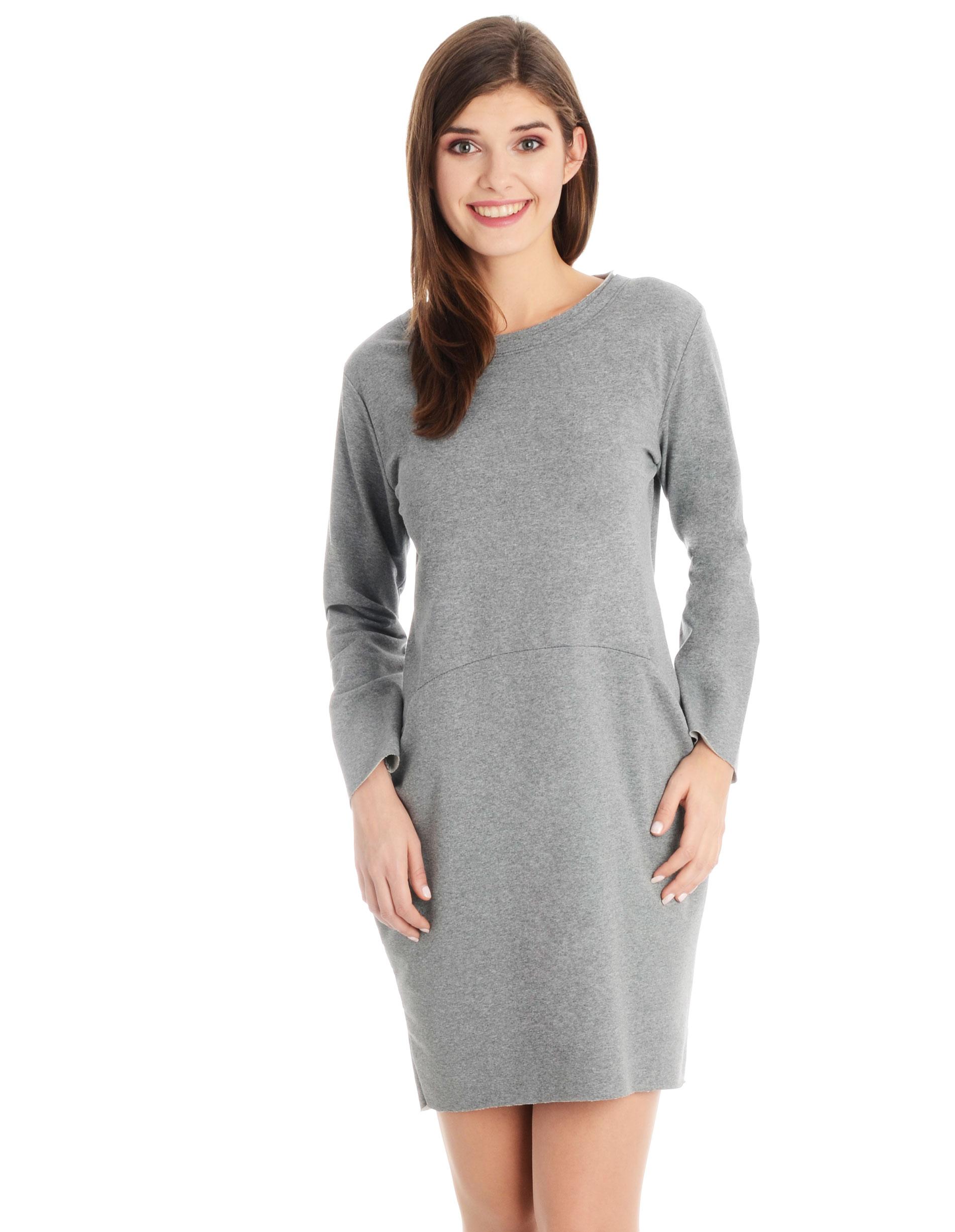 Sukienka - 118-42 GR MED - Unisono