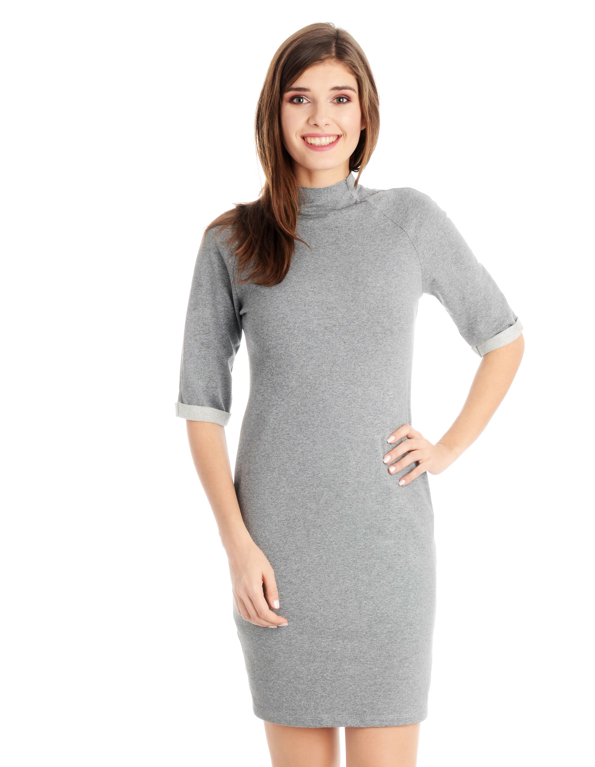 Sukienka - 118-789 GR ME - Unisono