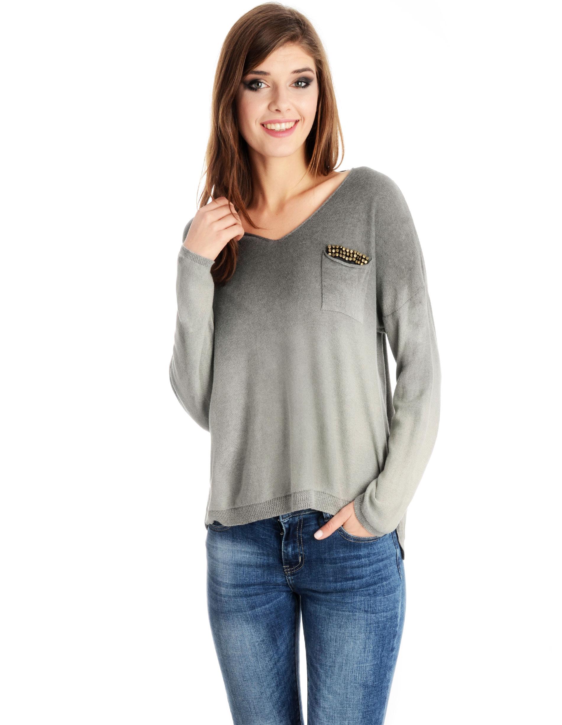 Sweter - 41-1003 GRIGI - Unisono