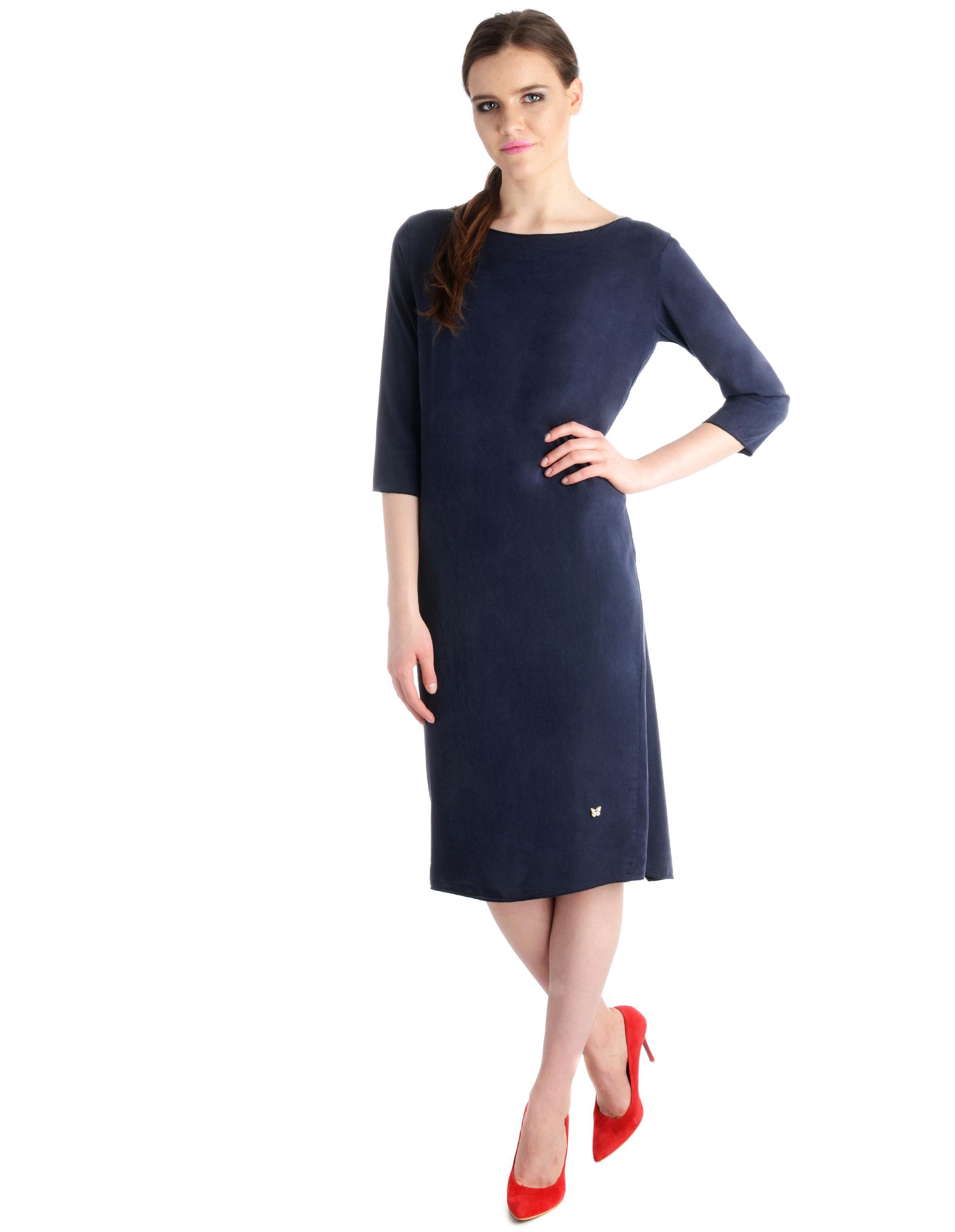 Sukienka - 16-3963 BLU - Unisono