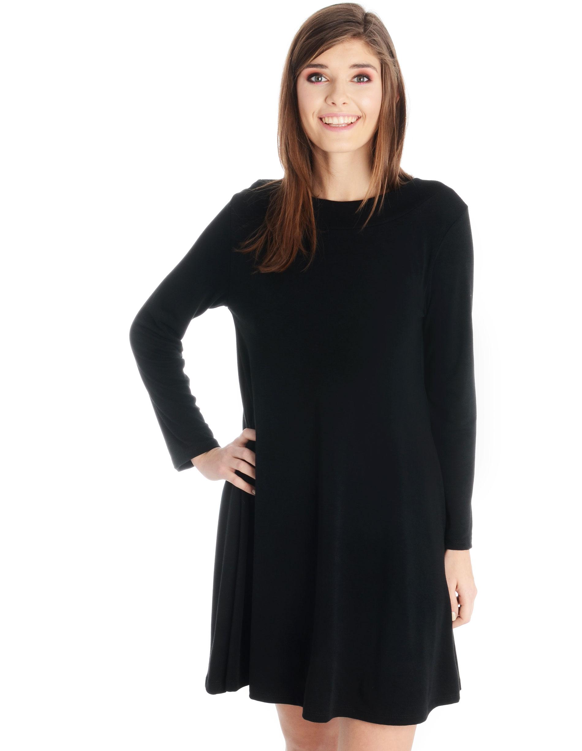 Sukienka - 62-3037 NERO - Unisono