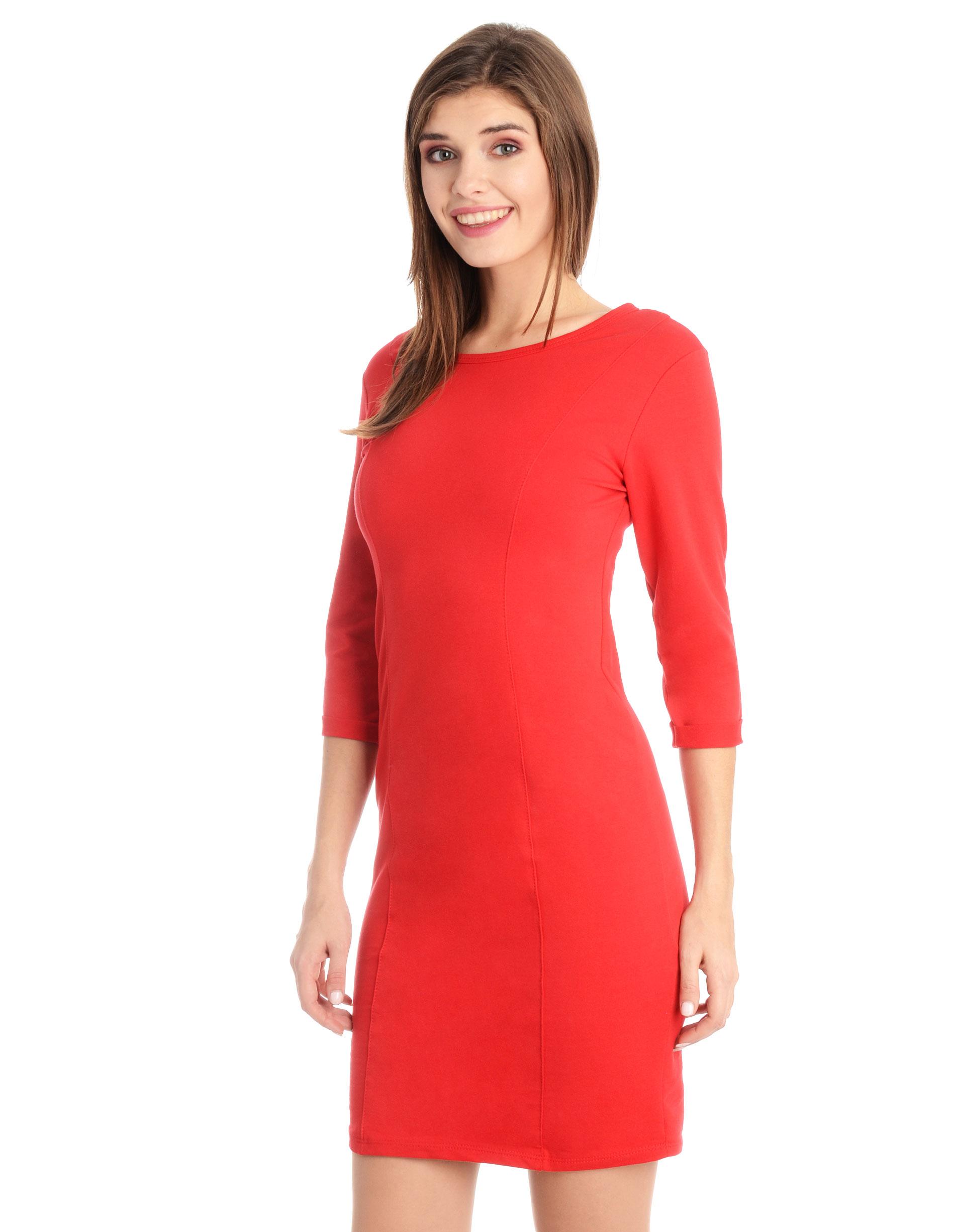 Sukienka - 118-779 ROSSO - Unisono