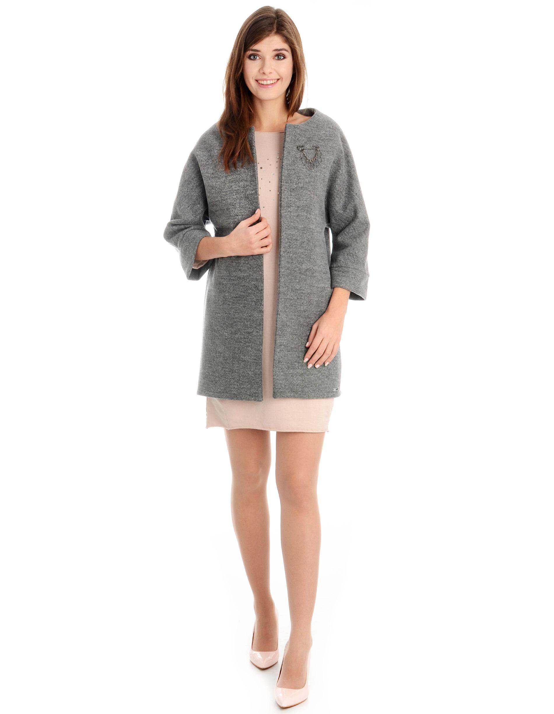 Płaszcz materiałowy - 34-3690 GRIGI - Unisono