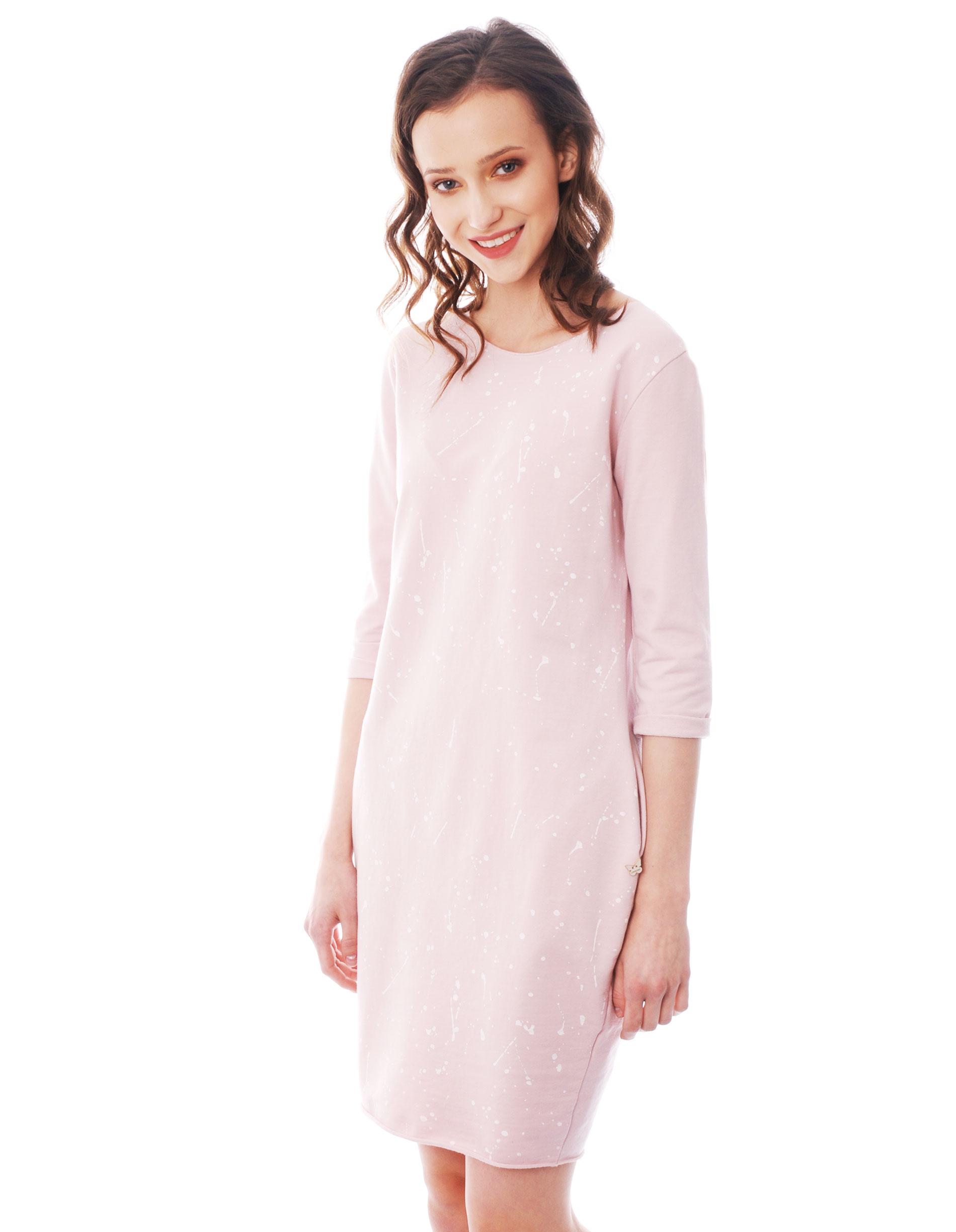 Sukienka - 18-4873 ROSA - Unisono