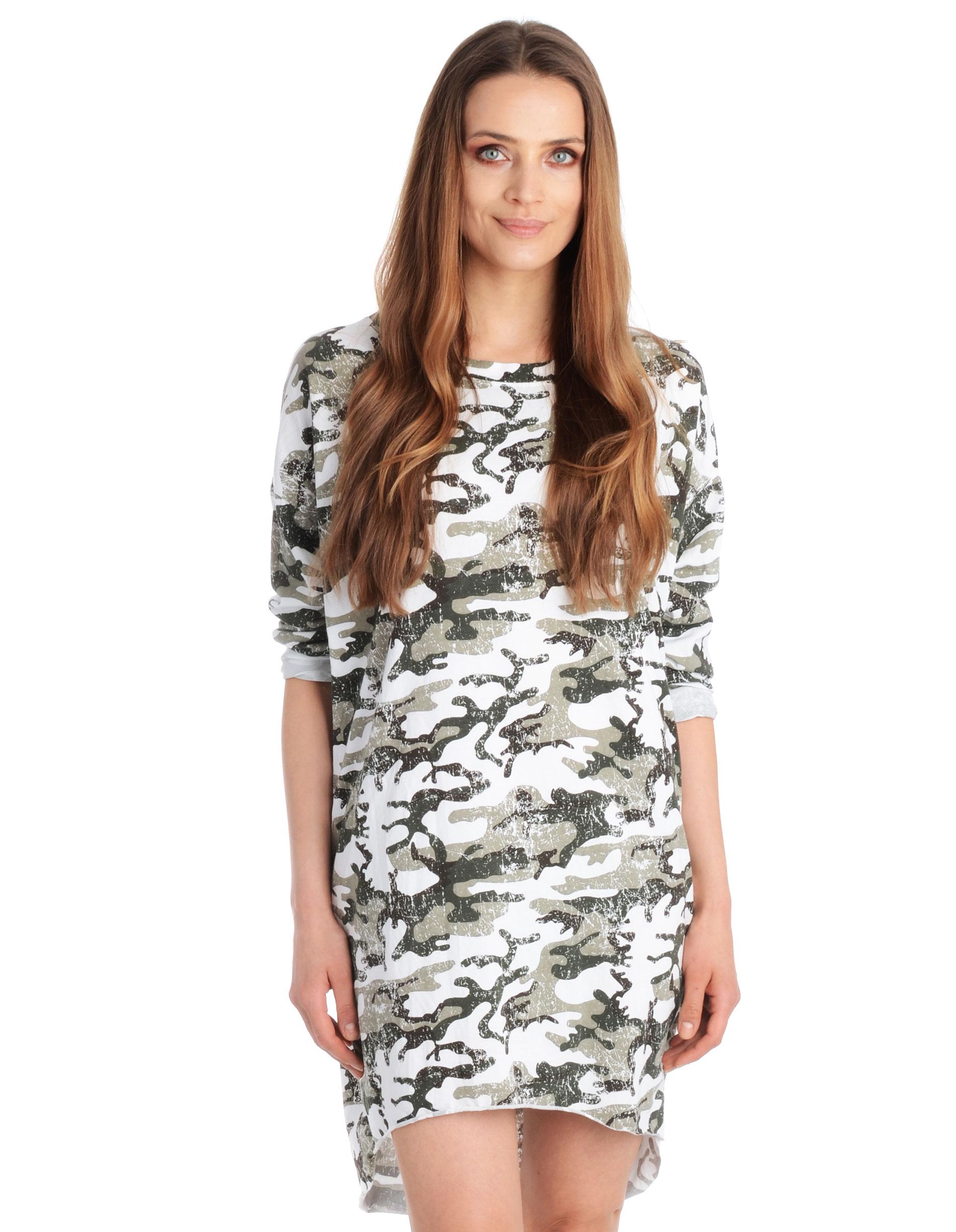 Sukienka - 109-6196C BIA - Unisono