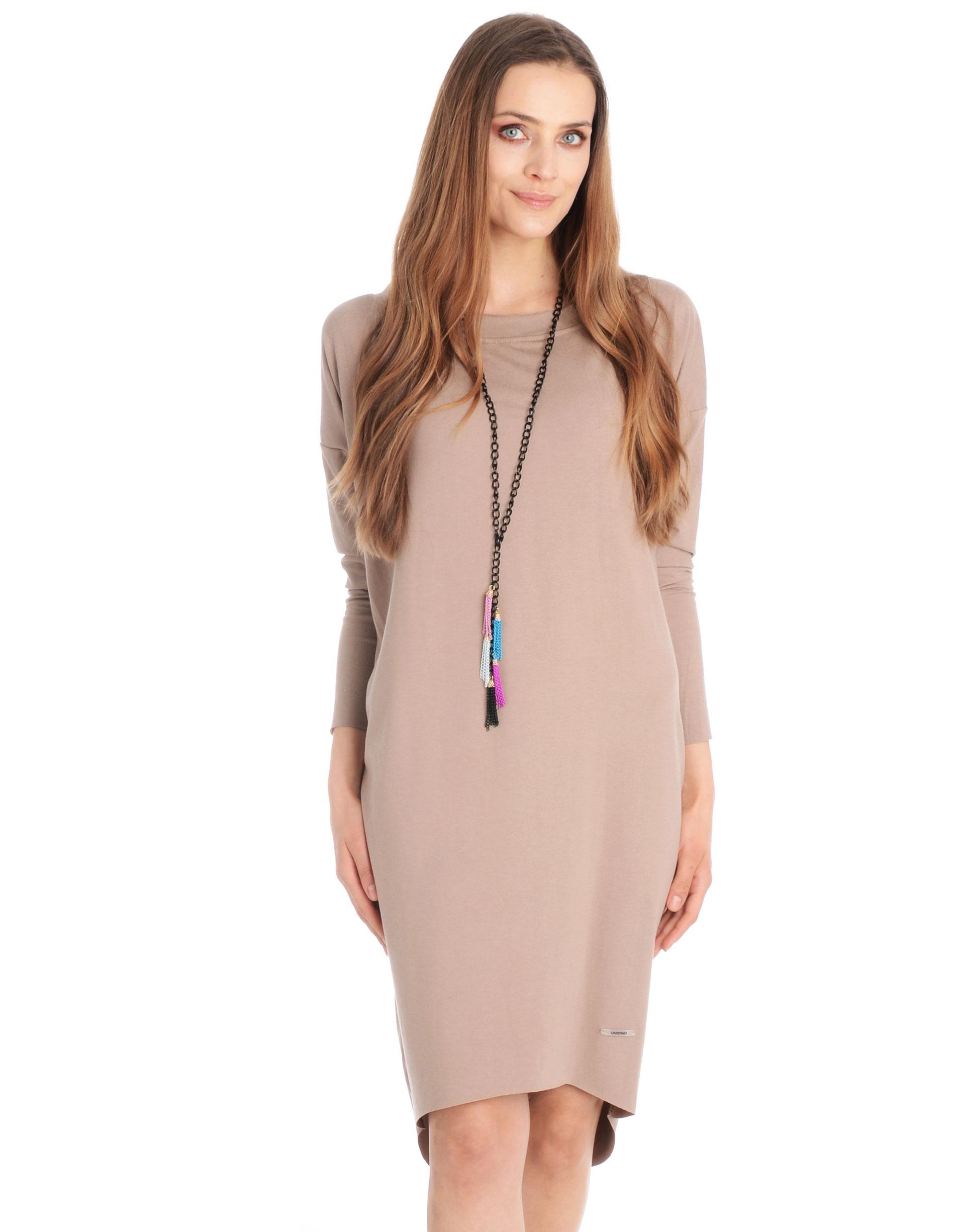 Sukienka - 30-86237 BEIG - Unisono