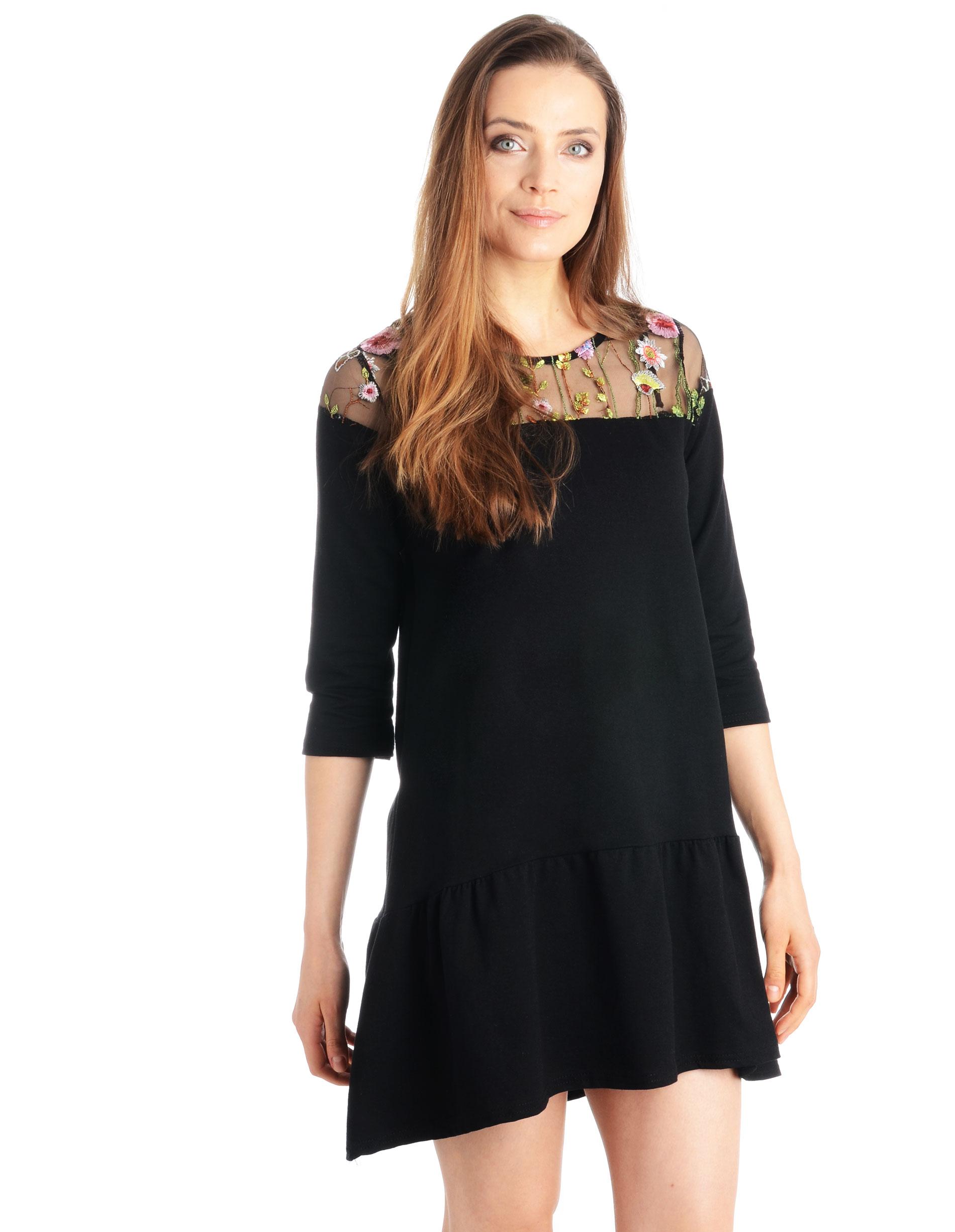 Sukienka - 90-7055 NERO - Unisono