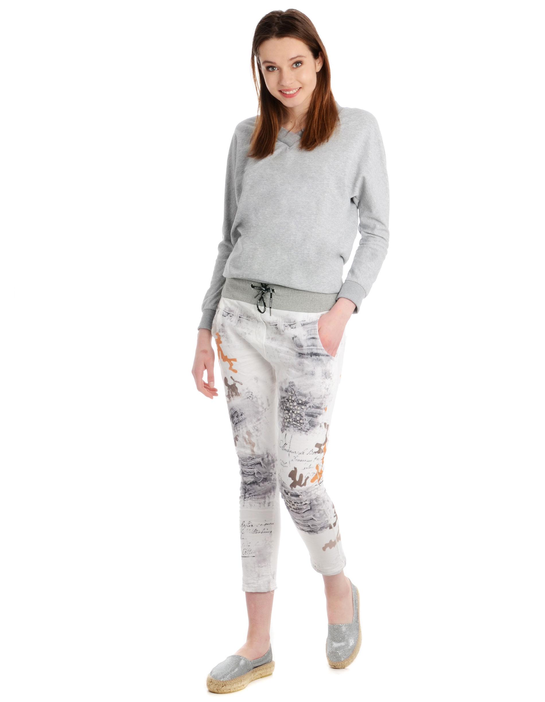 Spodnie - 137-2781A BEI - Unisono